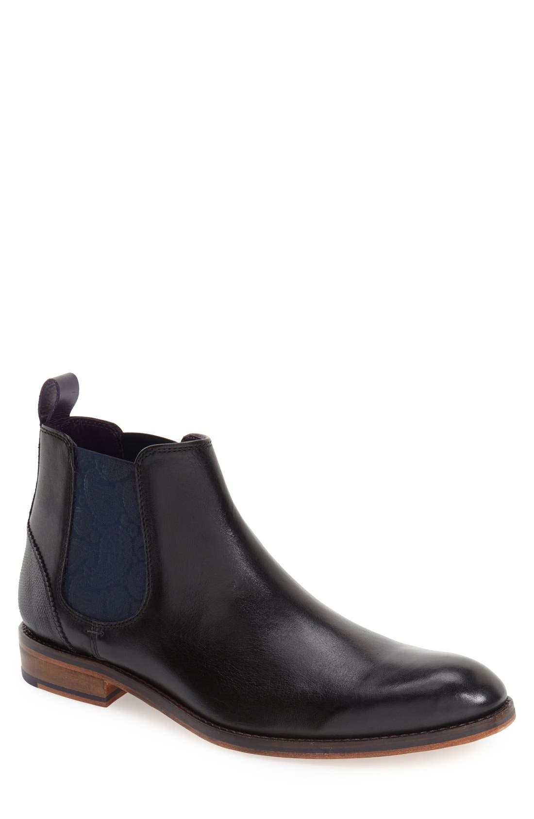 'Camroon 4' Chelsea Boot,                         Main,                         color, Black Leather