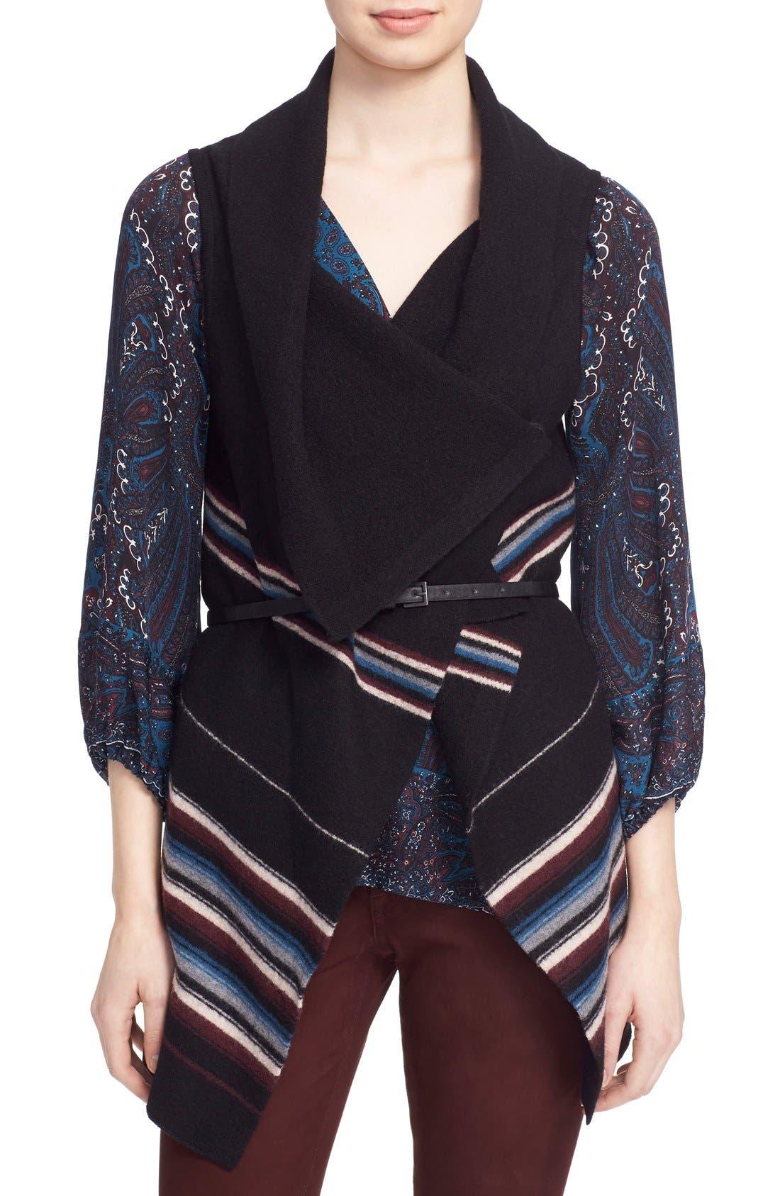 Main Image - Joie 'Ligiere B' Print Wool Wrap Vest