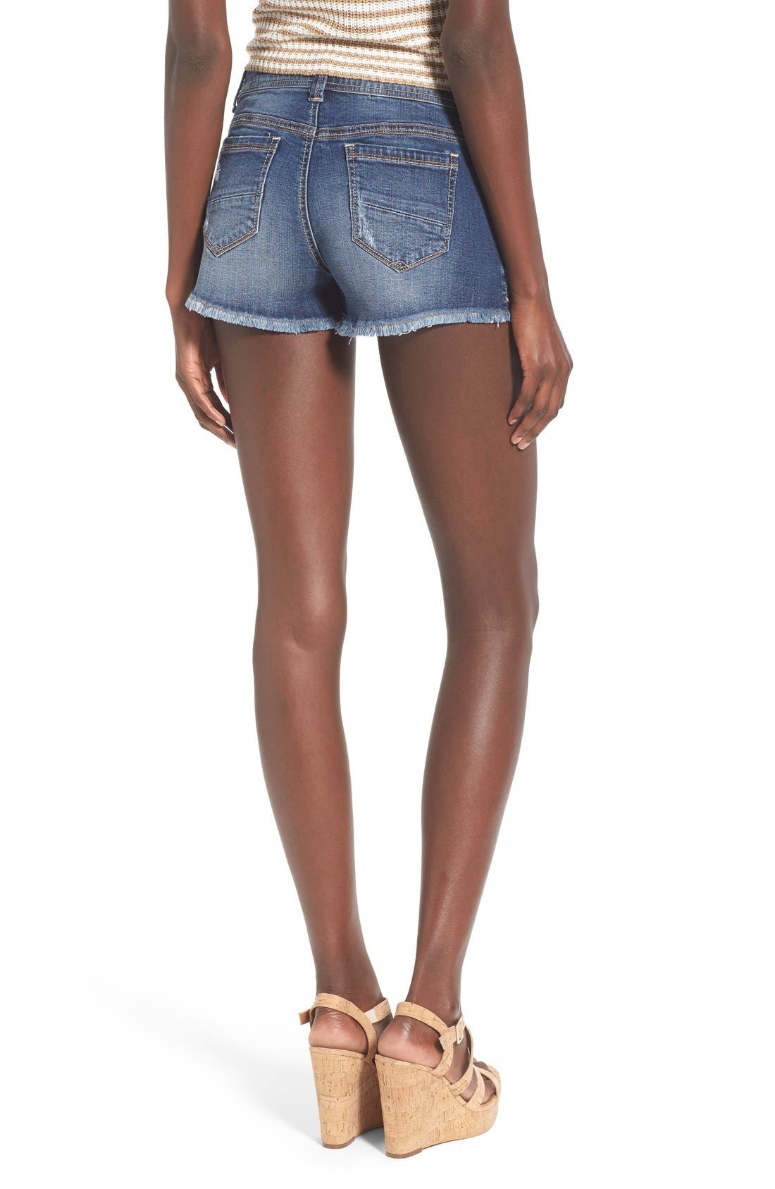 Alternate Image 2  - 1822 Denim Porkchop Pocket Denim Shorts