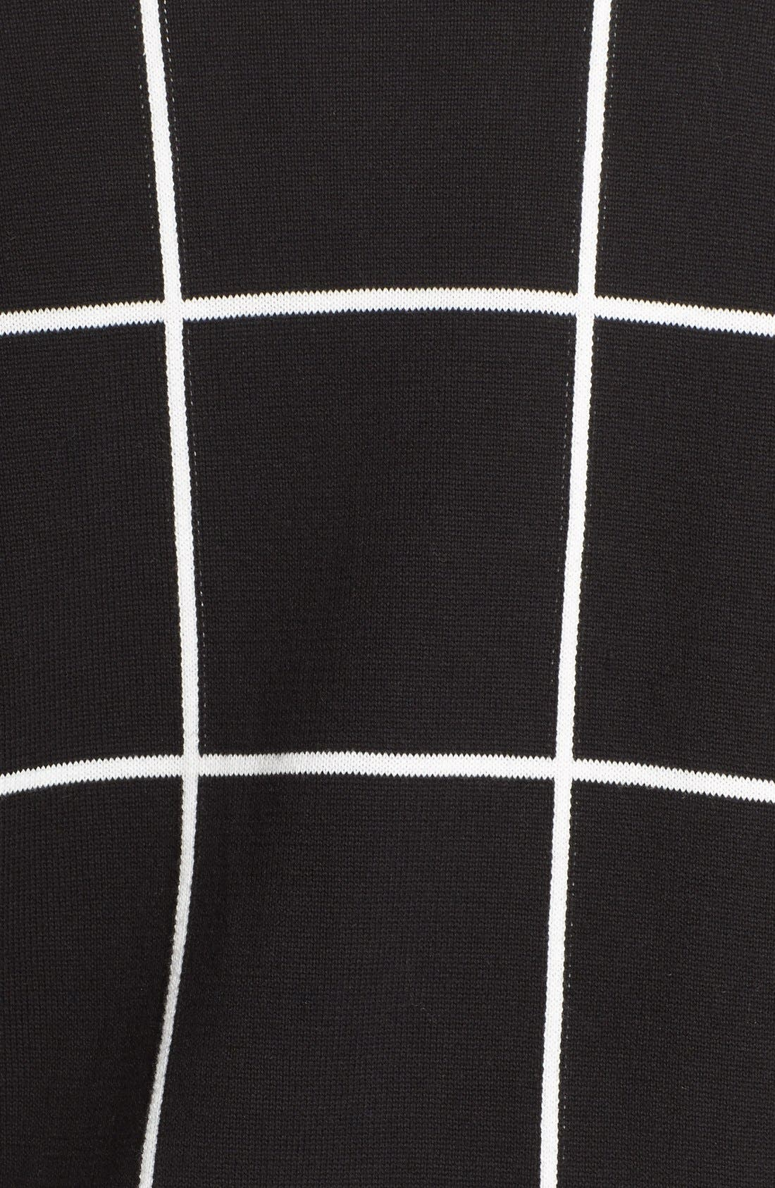 Alternate Image 5  - Vince Camuto Windowpane Intarsia Open Front Cardigan (Plus Size)