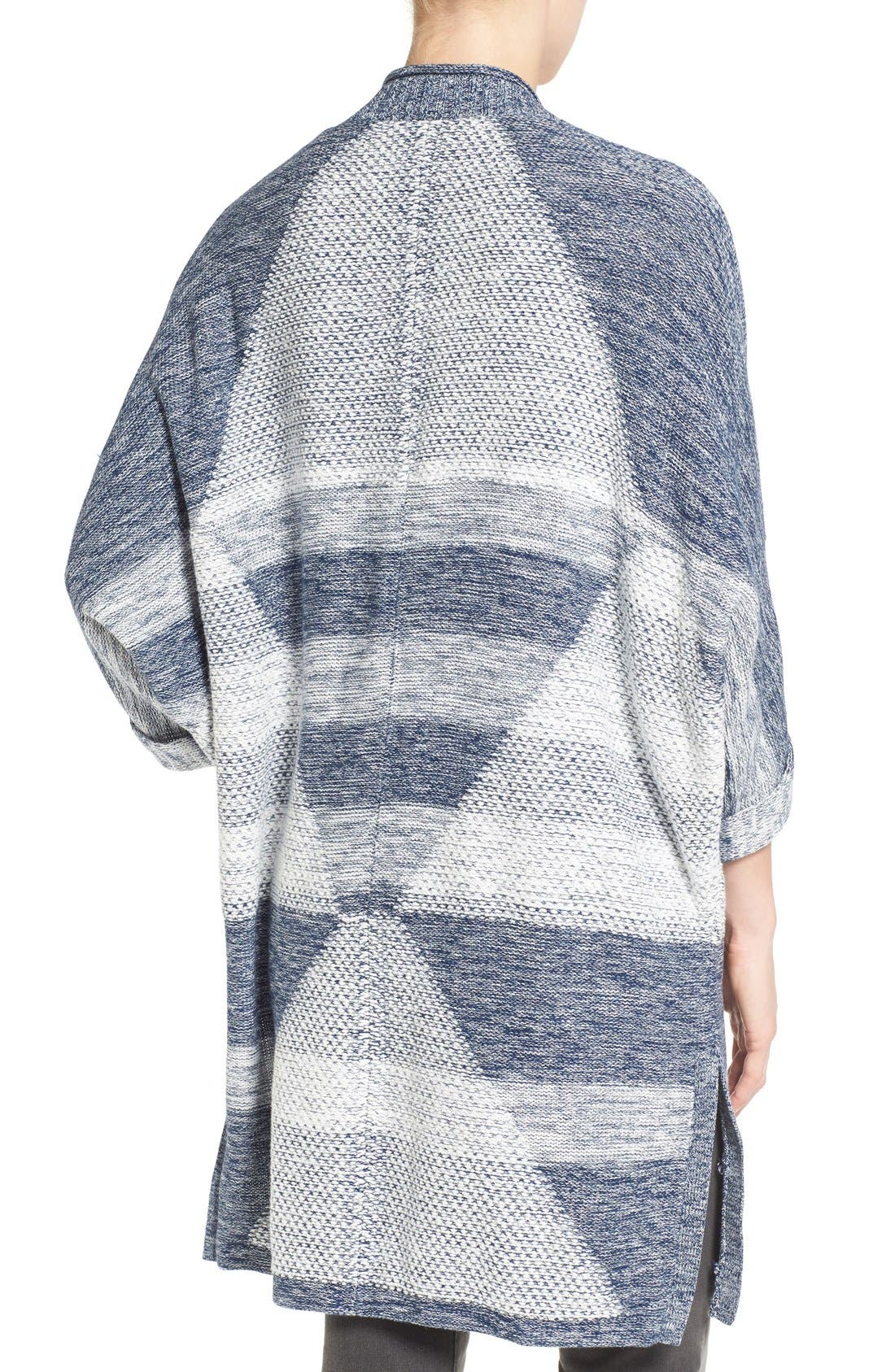 Alternate Image 2  - Caslon® Cuffed Sleeve Long Cardigan