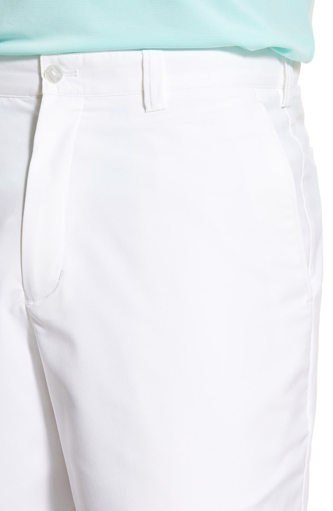 Bainbridge DryTec Flat Front Shorts,                             Alternate thumbnail 2, color,                             White