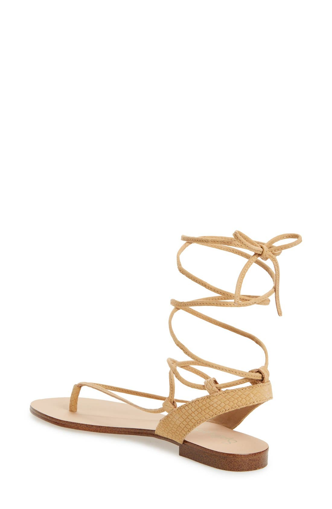 Alternate Image 2  - Splendid 'Candee' Wraparound Lace Flat Sandal (Women)
