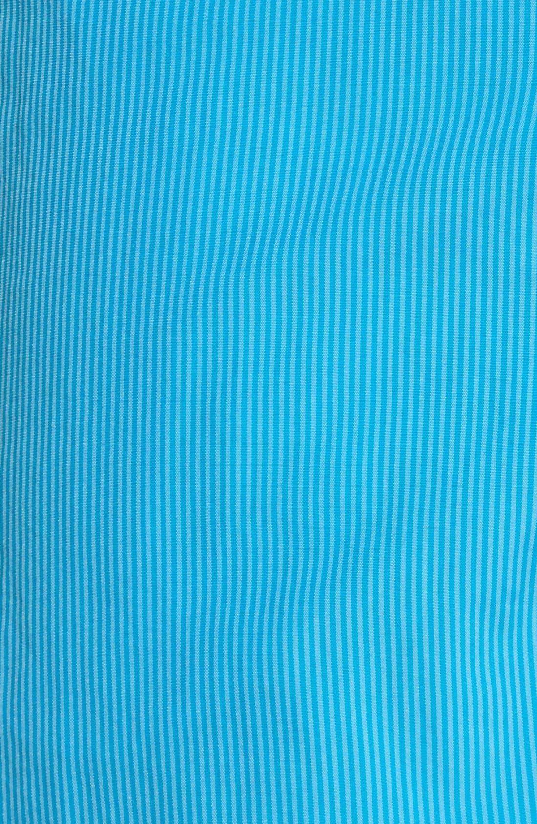 'Morio' Stripe Swim Trunks,                             Alternate thumbnail 5, color,                             Swimming Pool