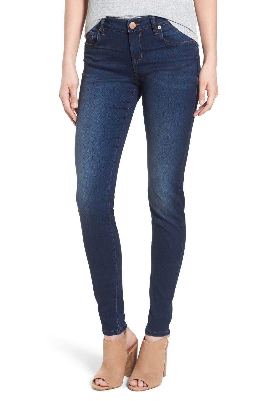 'Piper' Skinny Jeans,                             Main thumbnail 1, color,                             Royal Beach
