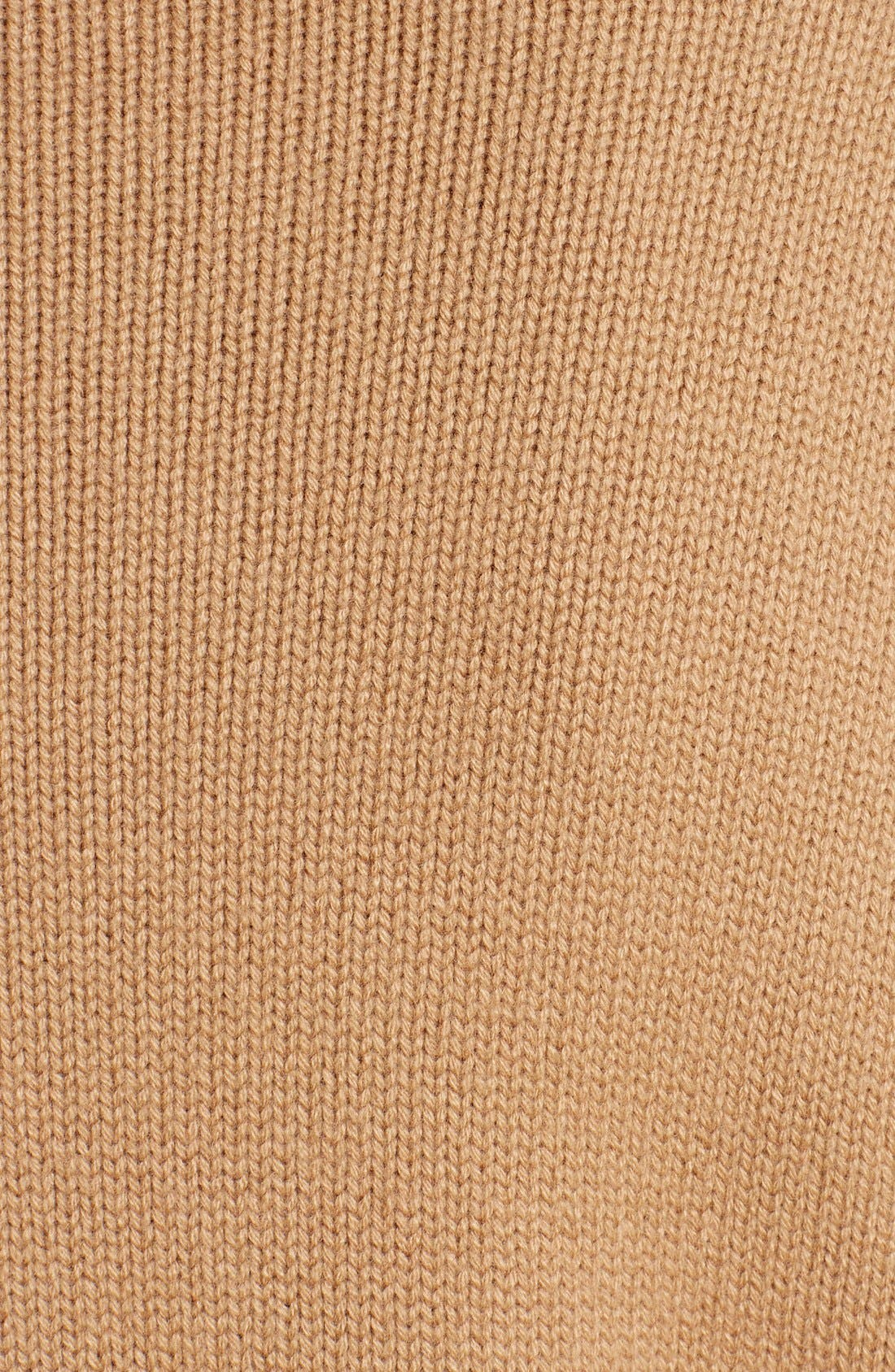 Studded Crewneck Cashmere Sweater,                             Alternate thumbnail 3, color,                             Camel