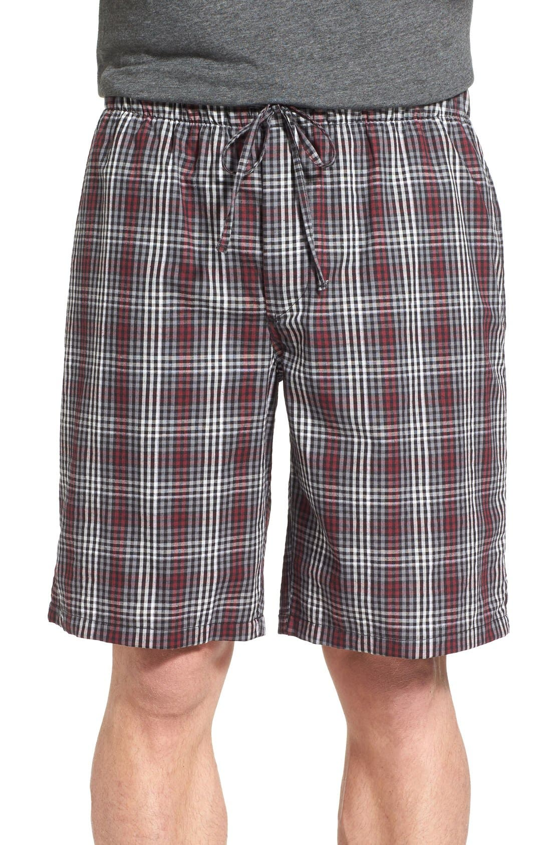 NORDSTROM MENS SHOP Nordstrom Plaid Pajama Shorts