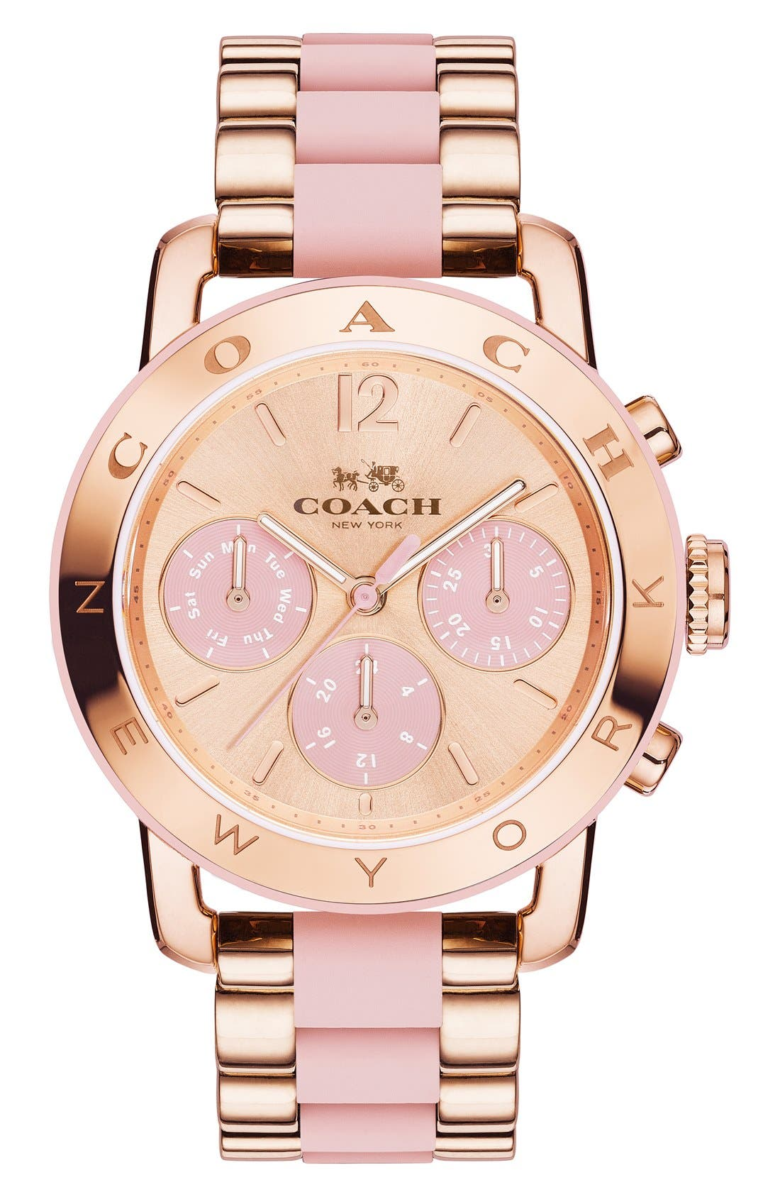 'Legacy' Chronograph Bracelet Watch, 36mm,                             Main thumbnail 1, color,                             Rose Gold/ Blush