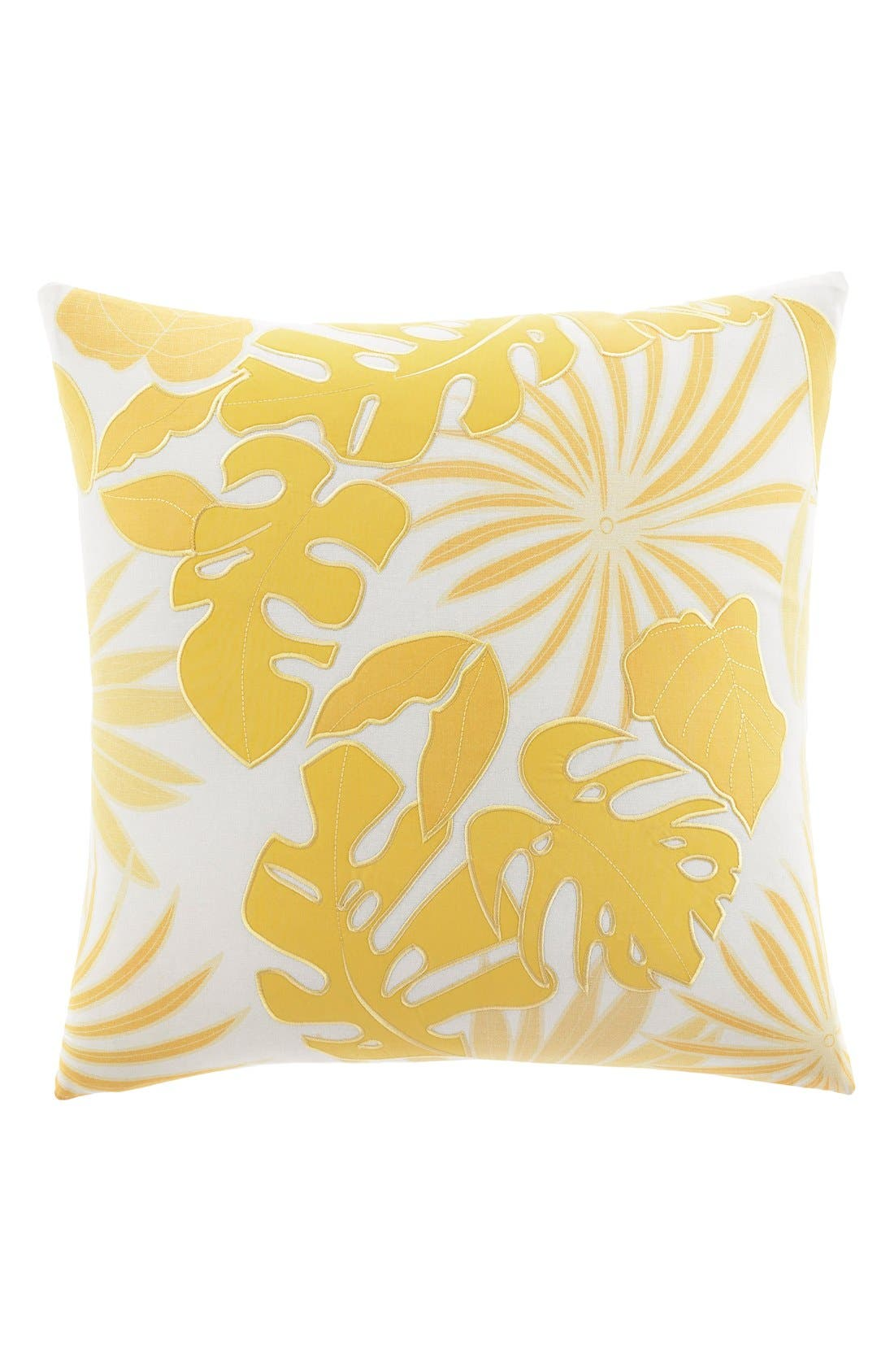'Antique Palm' Accent Pillow,                             Main thumbnail 1, color,                             Sunglow Yellow