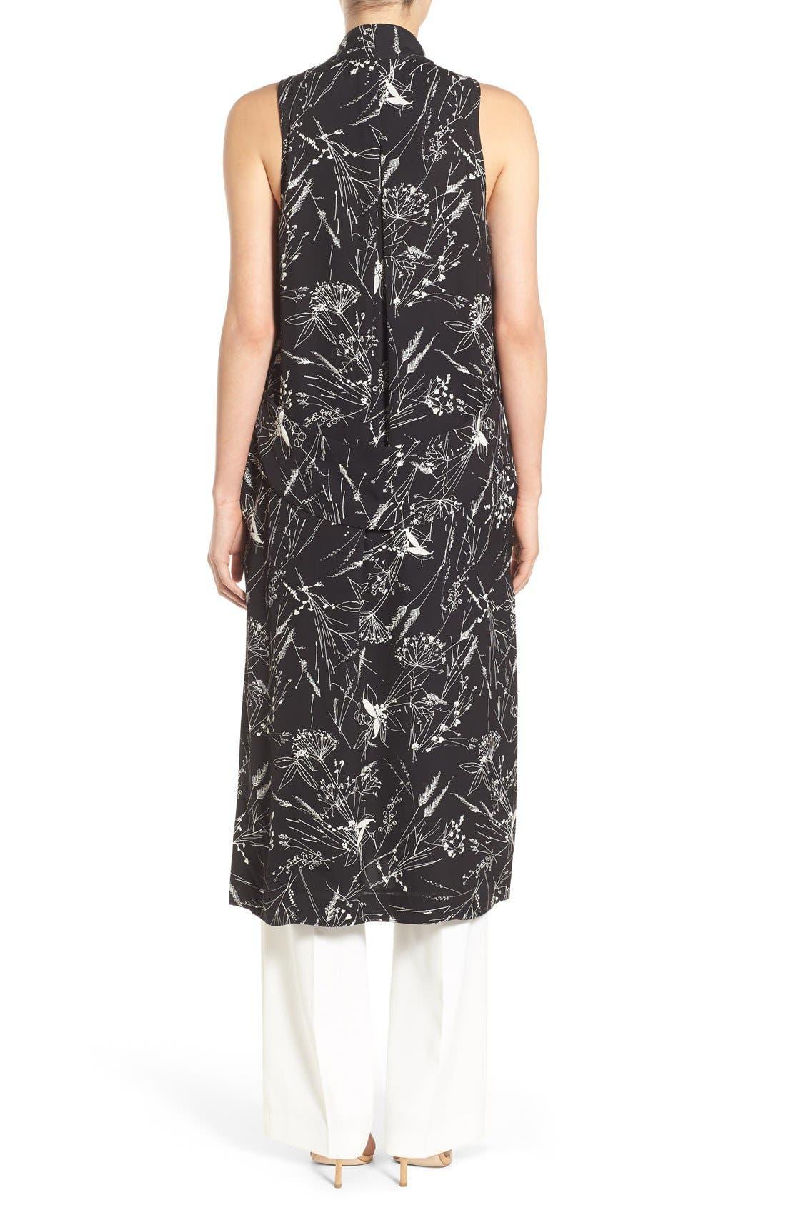 Alternate Image 2  - Olivia Palermo + Chelsea28 Floral Print Long Vest