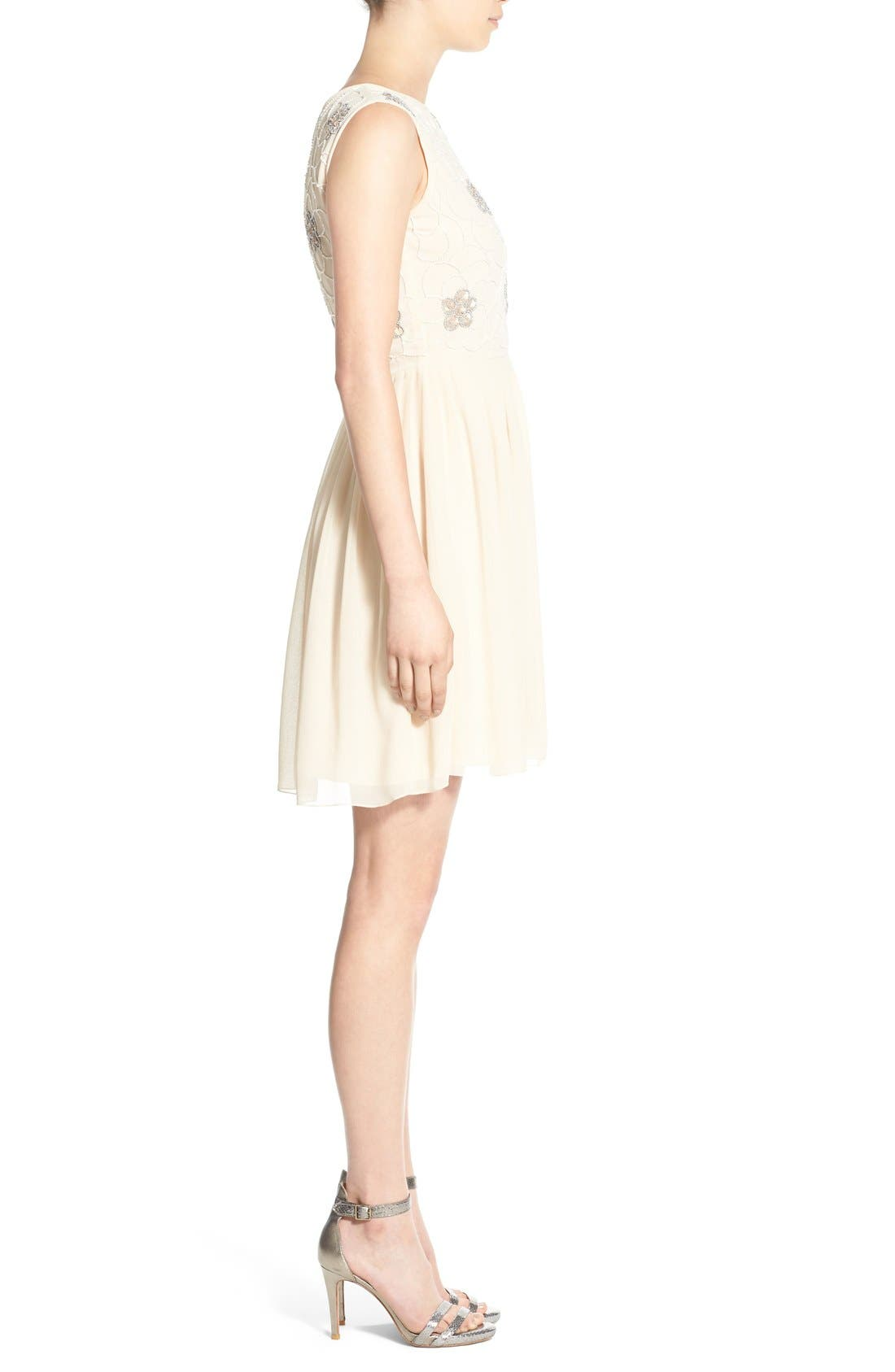Alternate Image 3  - Lace & Beads 'Sandra' Embellished Skater Dress