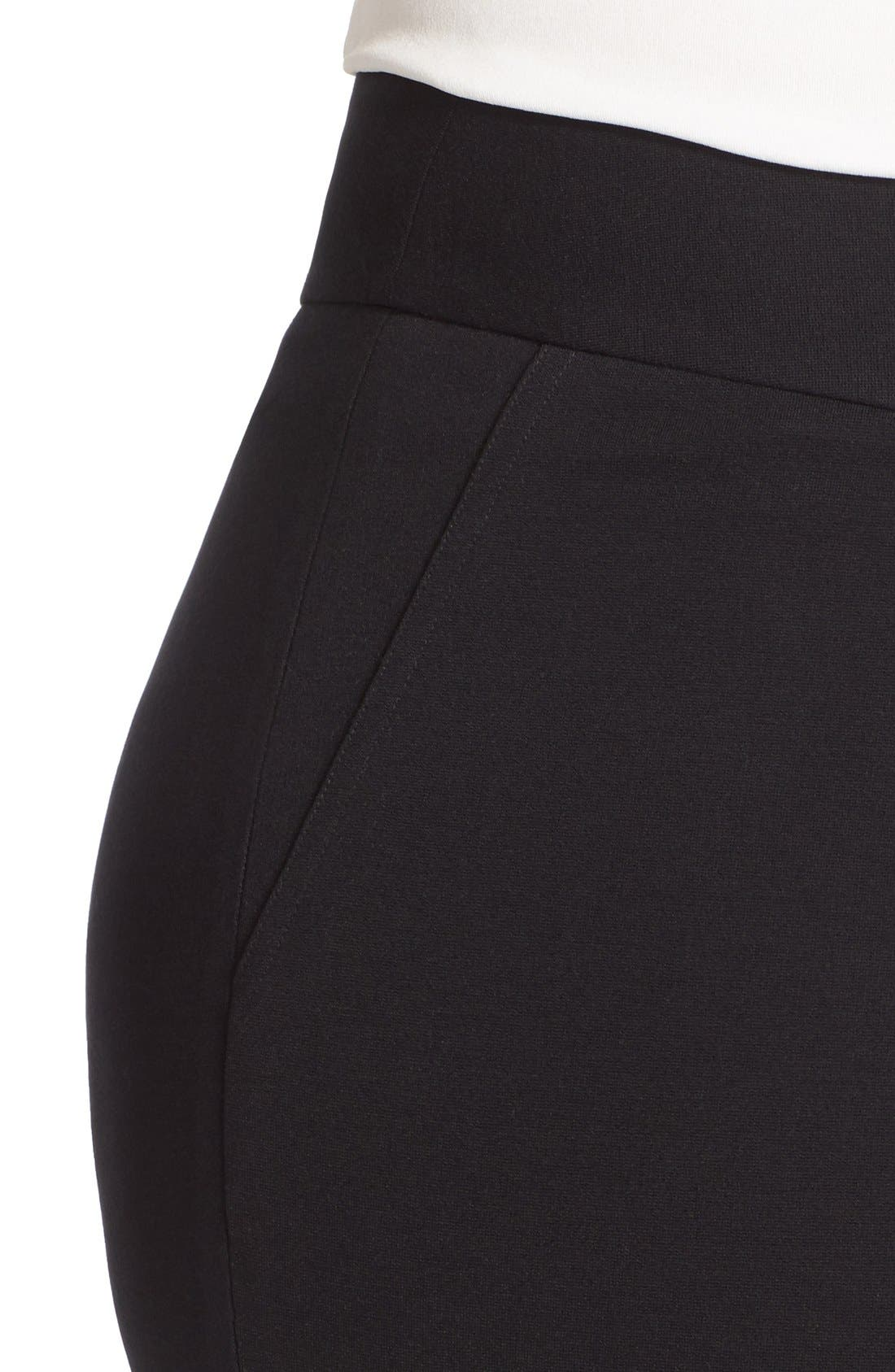 Alternate Image 4  - Vince Camuto Front Zip Slim Ankle Pants (Plus Size)