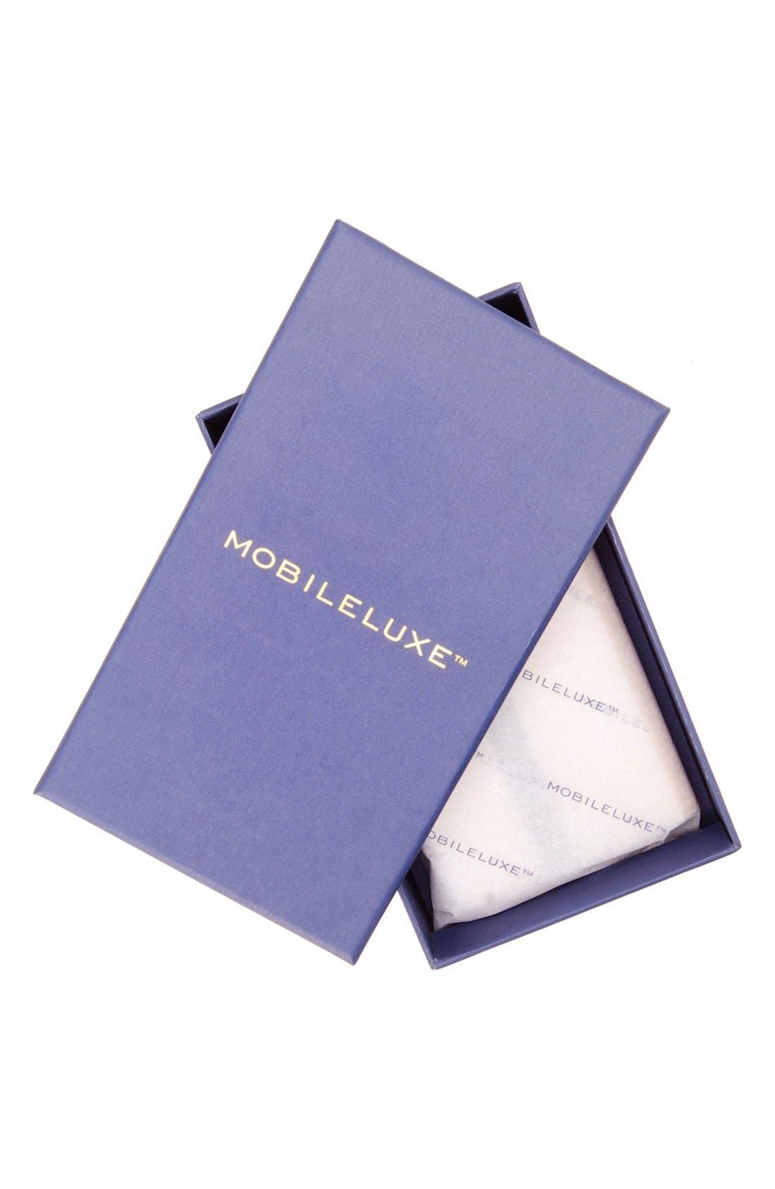 Alternate Image 4  - Mobileluxe iPhone 6/6s Metallic Leather Wallet Case