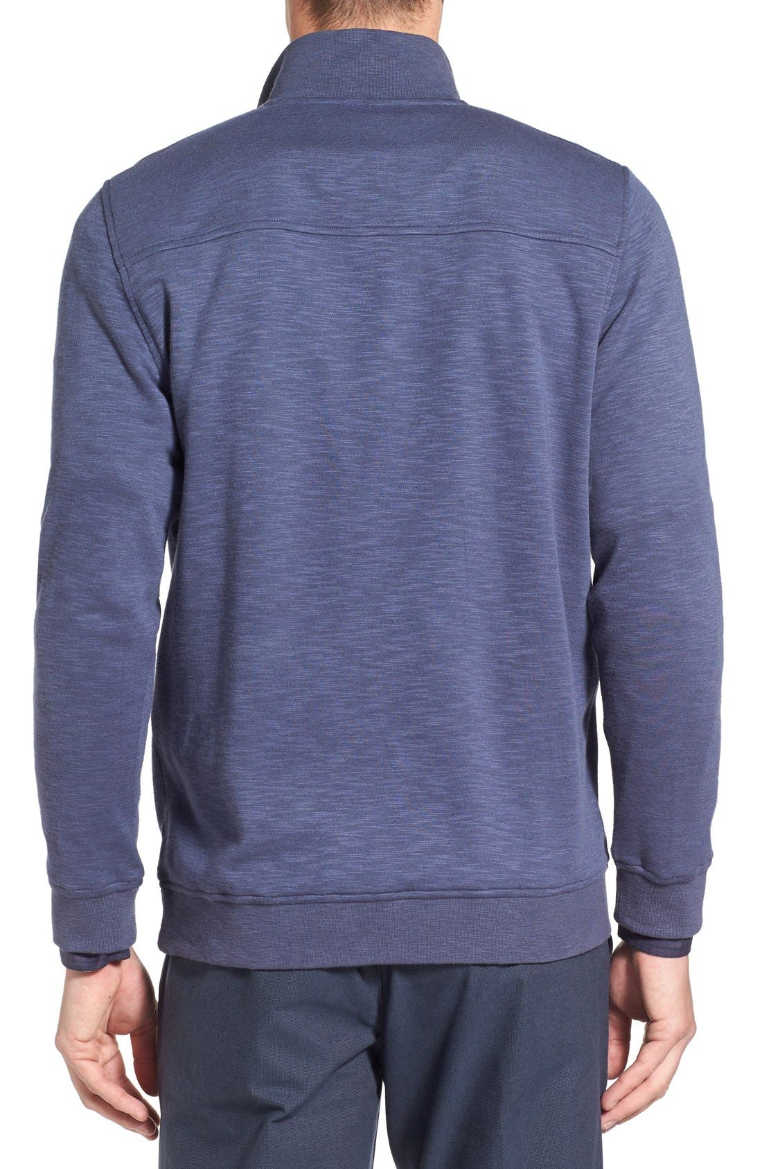 'Mandra' Quarter Zip Pullover,                             Alternate thumbnail 2, color,                             Dark Blue