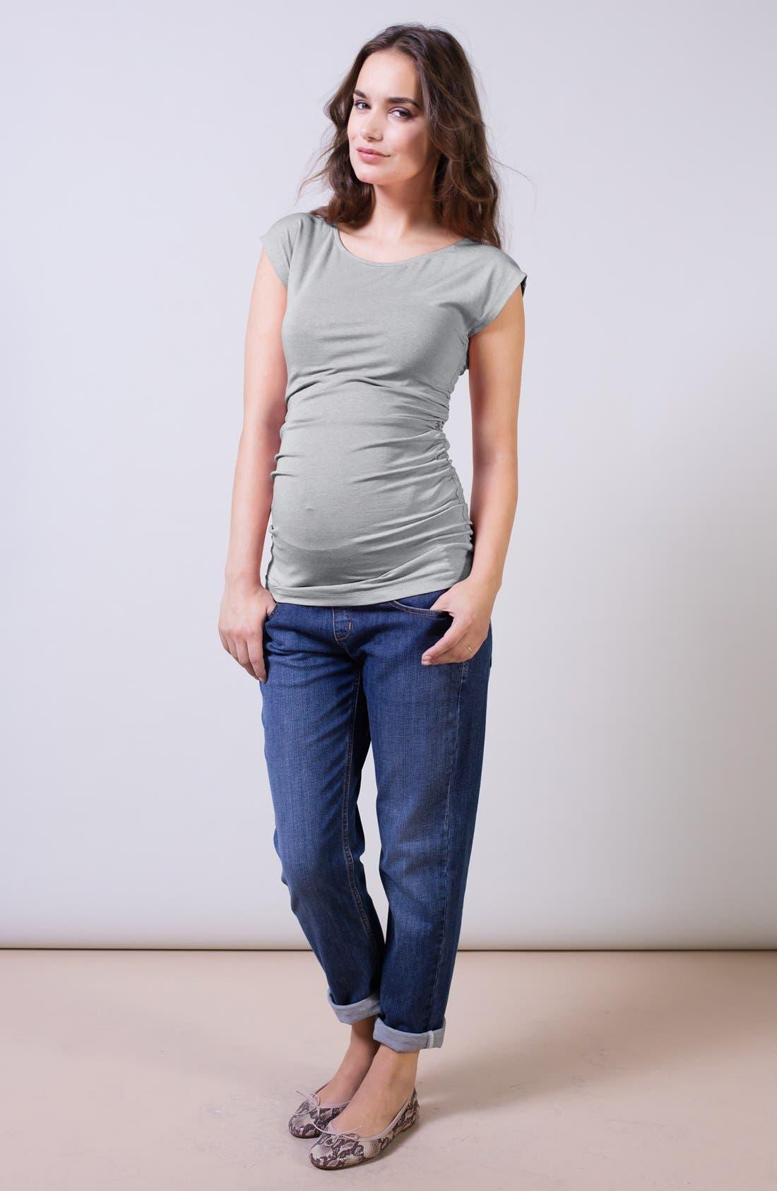 Alternate Image 2  - Isabella Oliver Relaxed Maternity Jeans (Washed Indigo)