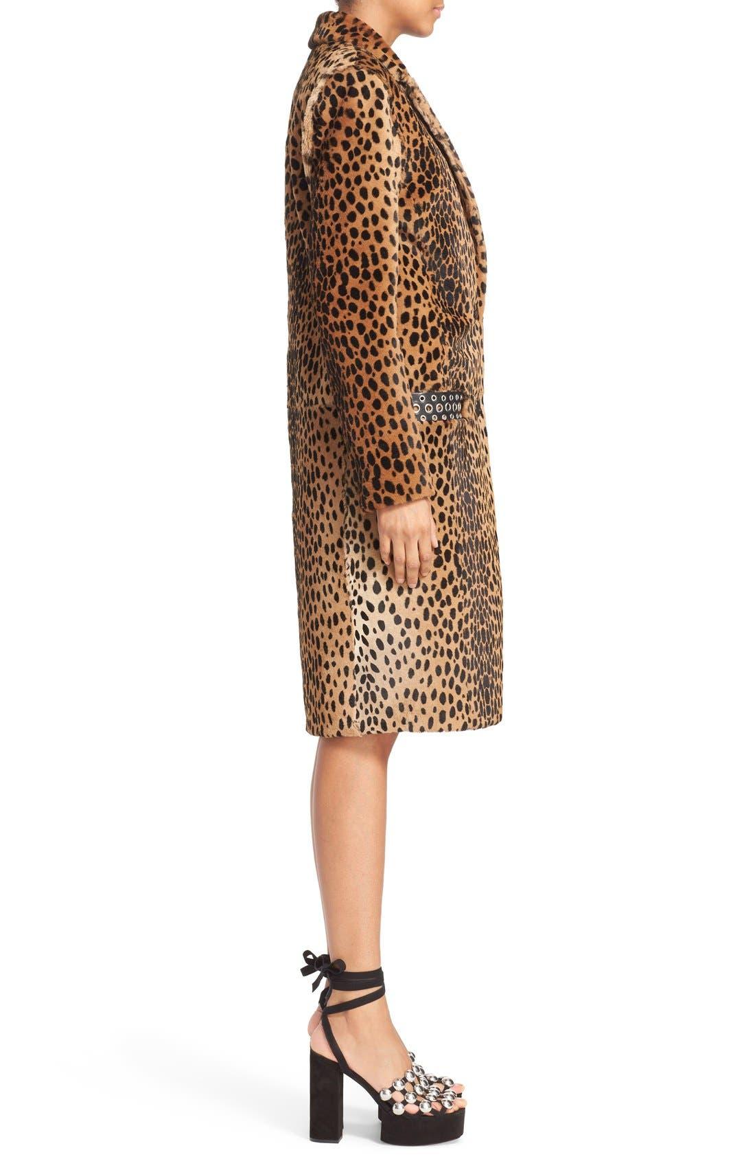 Alternate Image 5  - Alexander Wang Cheetah Print Genuine Kangaroo Fur Coat