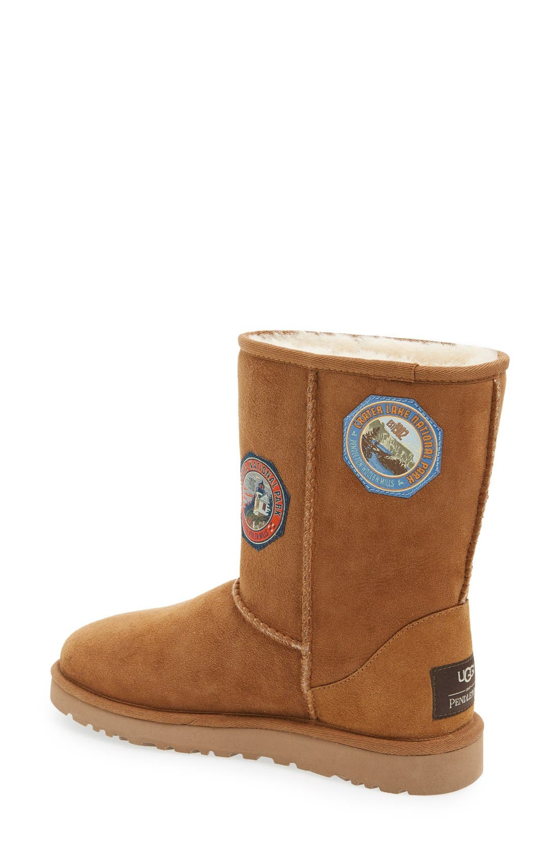 Alternate Image 2  - UGG® x Pendleton 'Classic Short - Patch' Boot (Women)