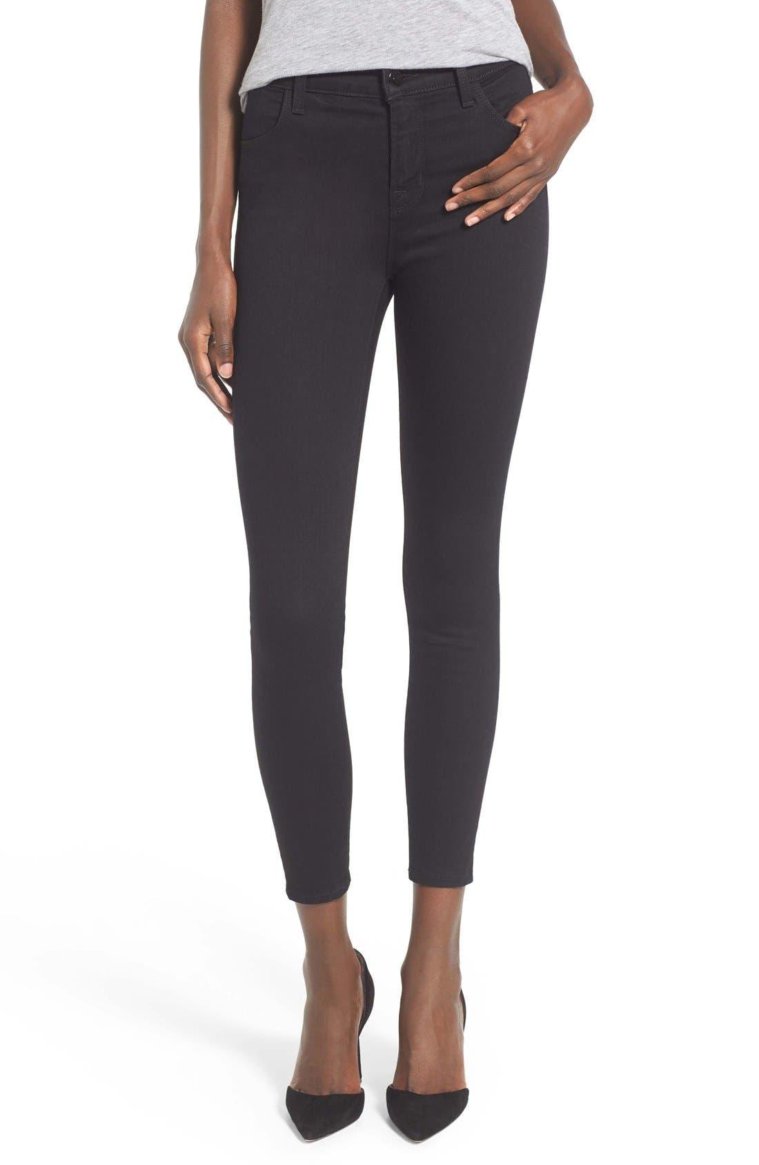 Alternate Image 1 Selected - J Brand Alana High Waist Crop Skinny Jeans (Vanity)