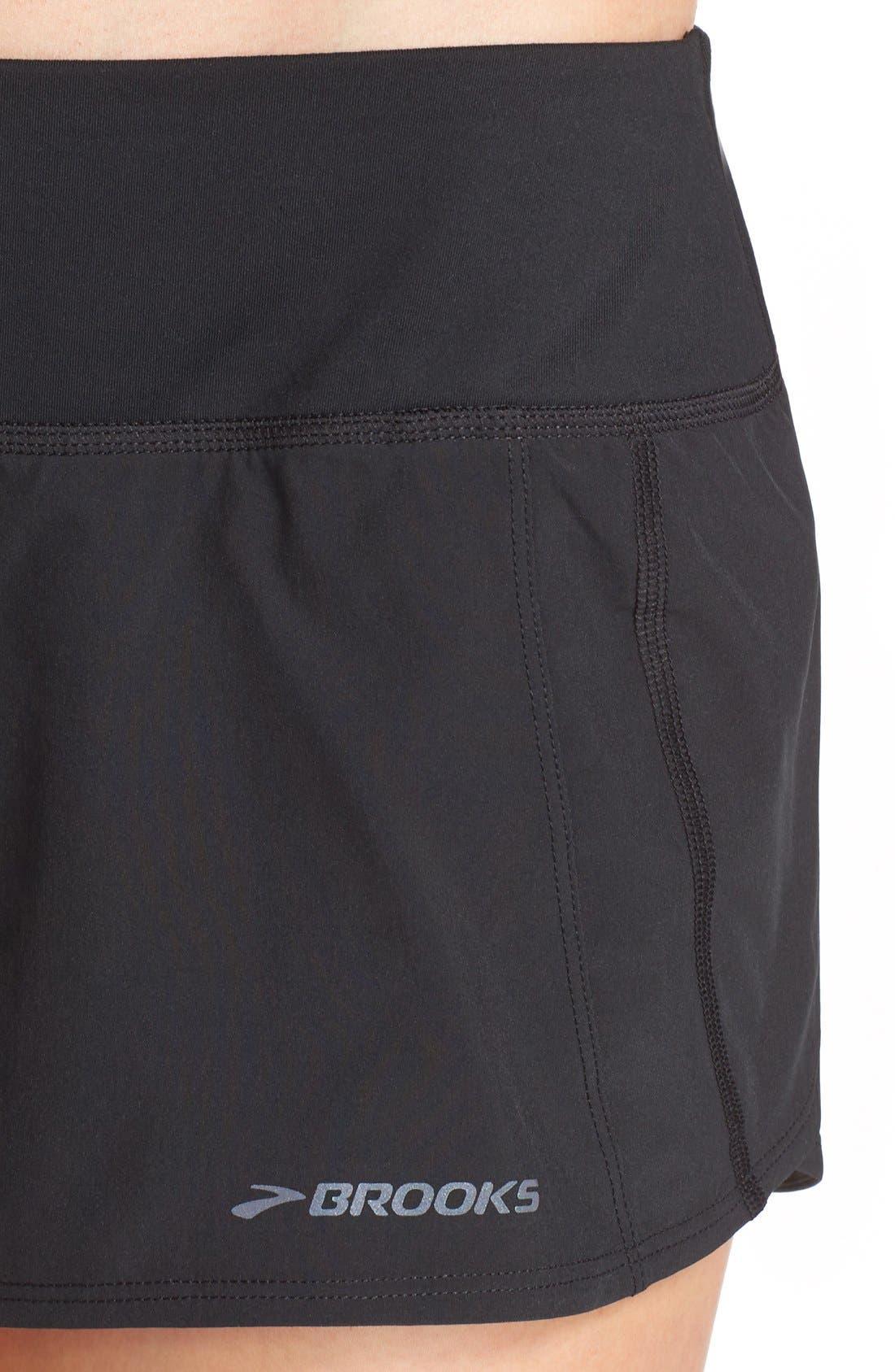 'Chaser 3' Running Shorts,                             Alternate thumbnail 4, color,                             Black