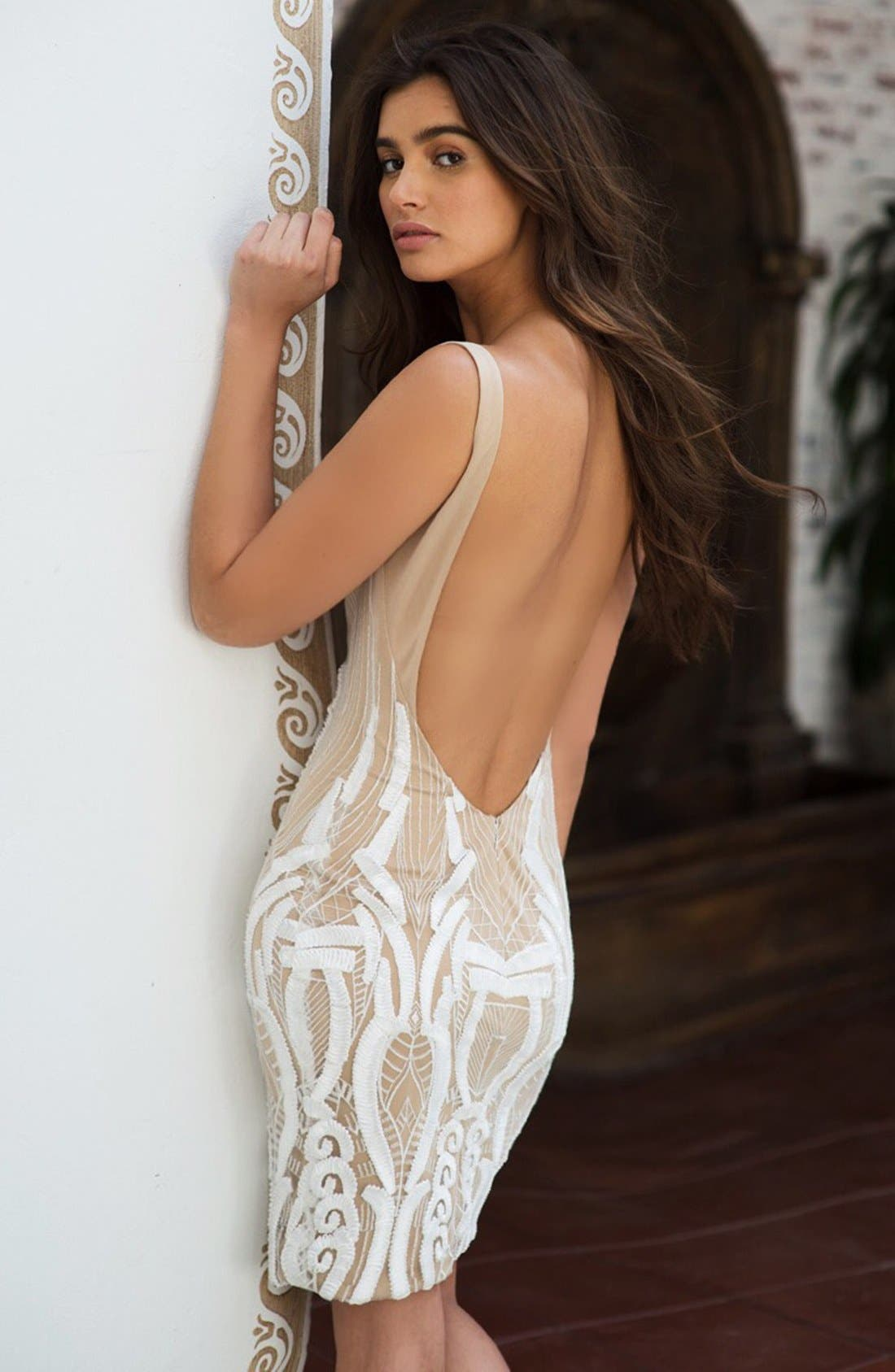 Alternate Image 7  - Katie May 'Cara' Backless Ribbon Lace Embroidered Tulle Sheath Dress