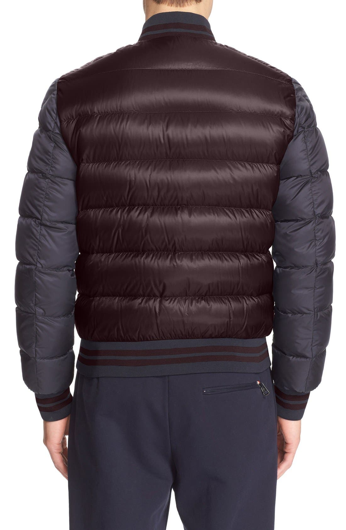 Alternate Image 2  - Moncler 'Bardford' Channel Quilted Down Baseball Jacket