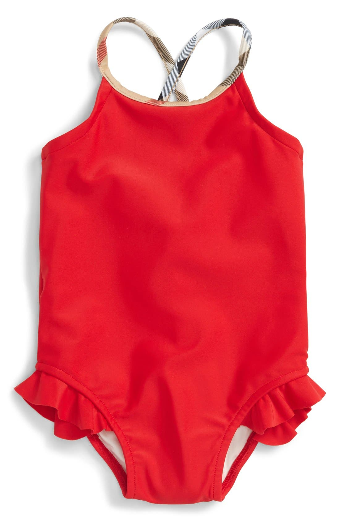 Alternate Image 1 Selected - Burberry 'Lundy' One-Piece Swimsuit (Toddler Girls)