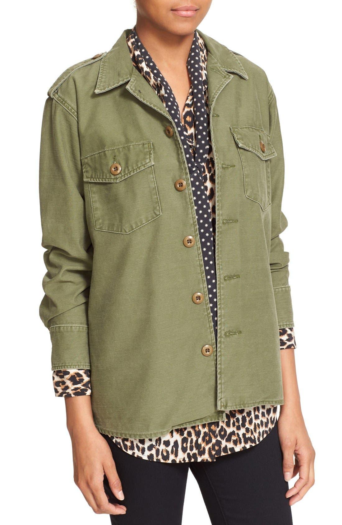 Alternate Image 4  - Kate Moss for Equipment 'Major' Shirt Jacket