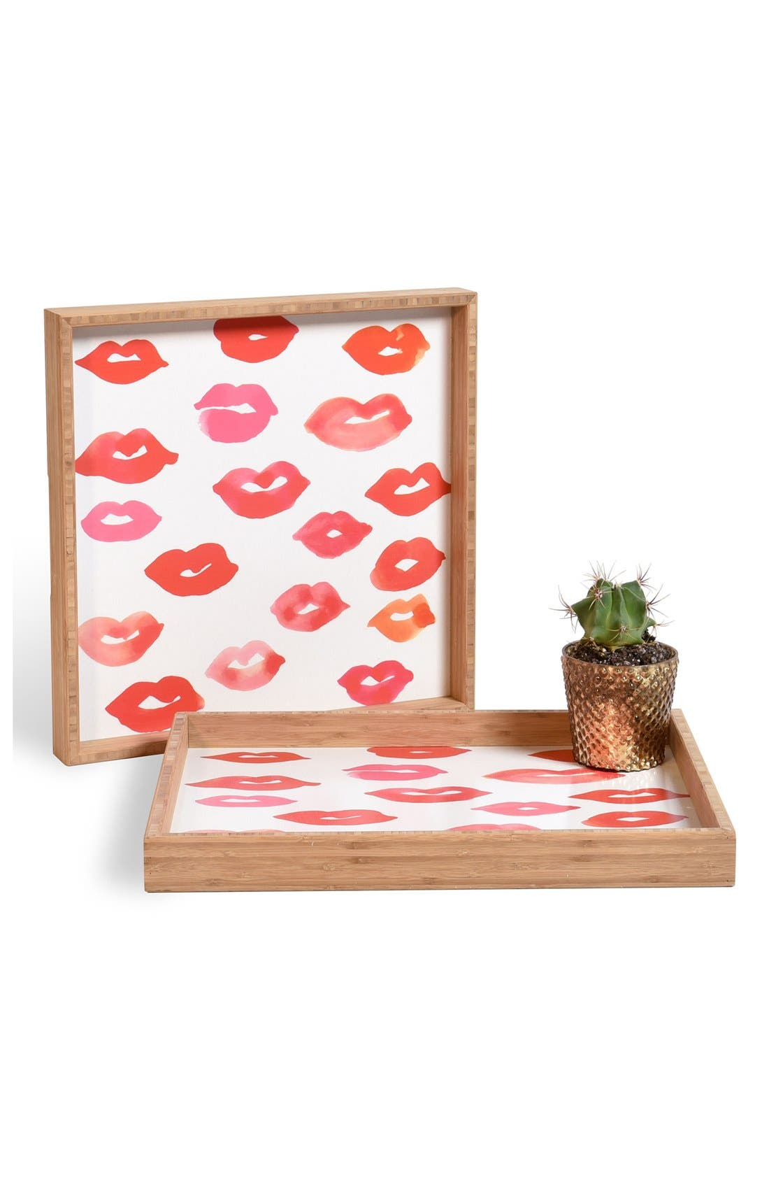 'Le Baiser' Decorative Serving Tray,                         Main,                         color, Red