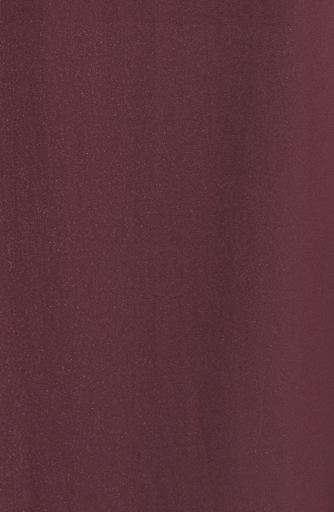 Bell Cuff High/Low Blouse,                             Alternate thumbnail 5, color,                             Burgundy Stem