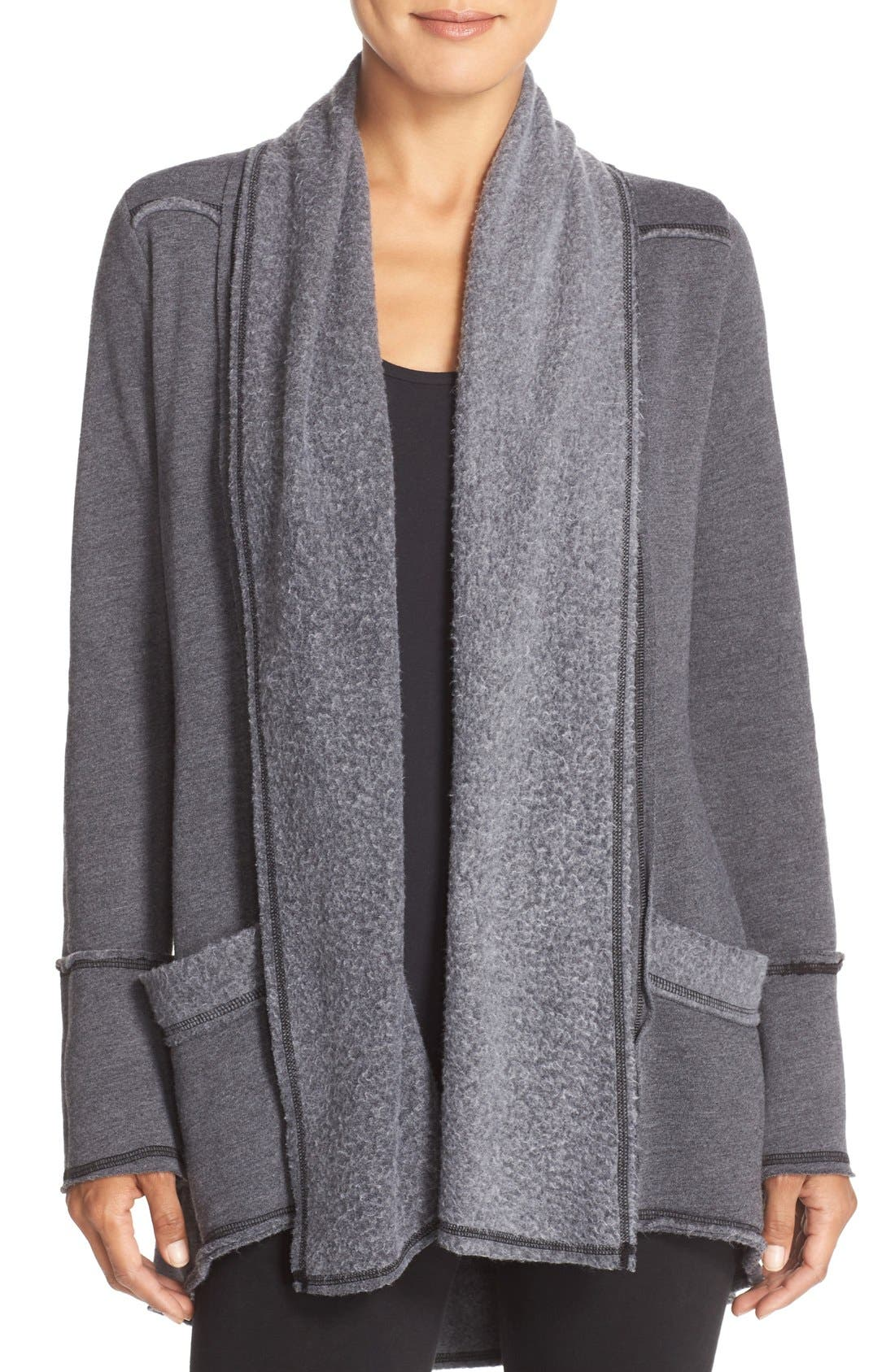 Slouchy Knit Cardigan,                         Main,                         color, Grey
