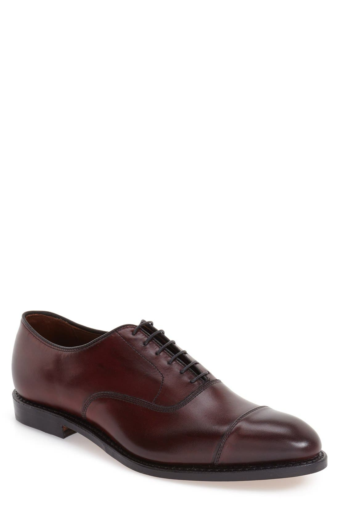 'Park Avenue' Cap Toe Oxford,                             Main thumbnail 1, color,                             Oxblood