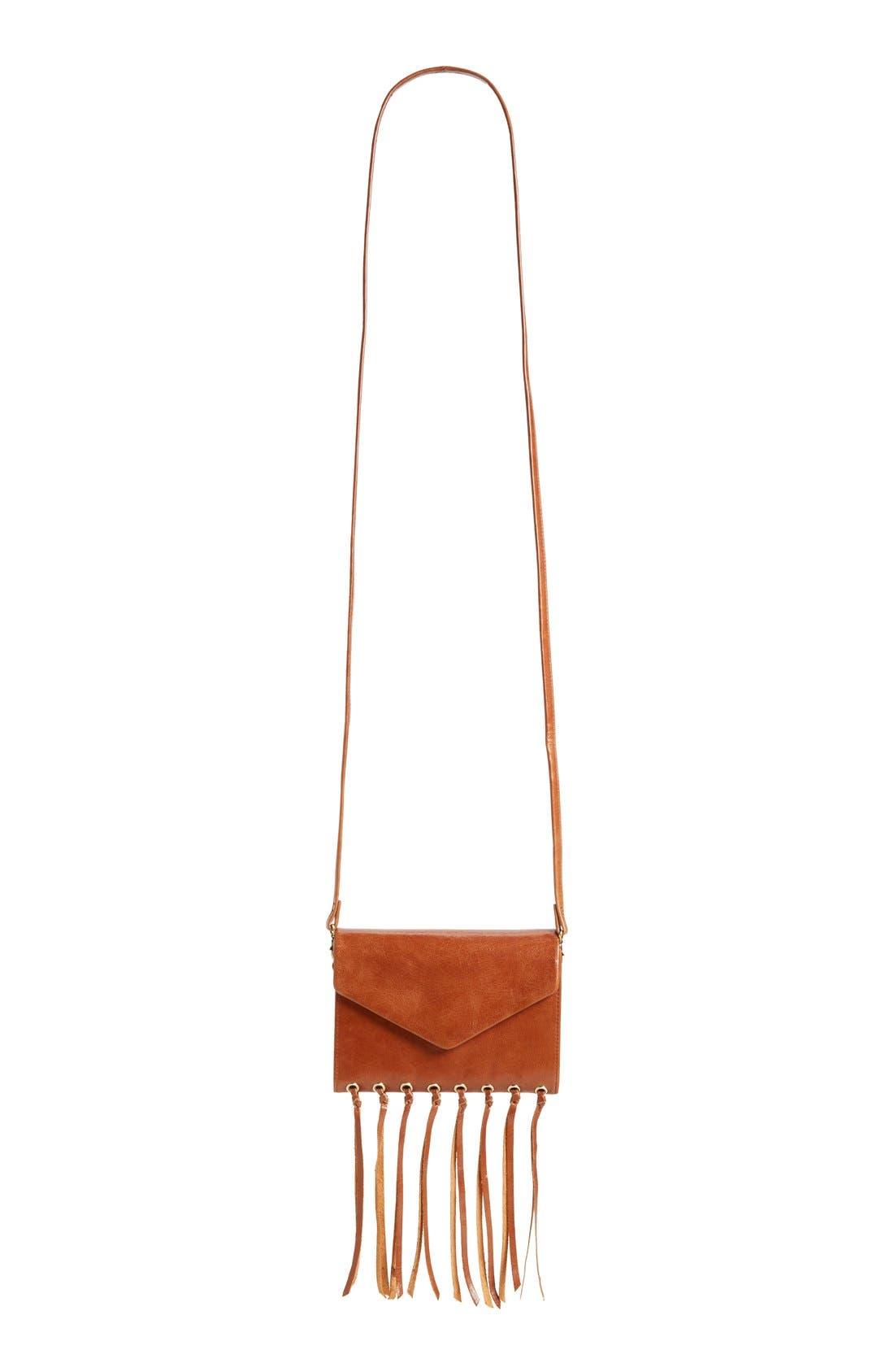 Alternate Image 2  - Hobo 'Maisy' Glazed Leather Fringe Crossbody Bag