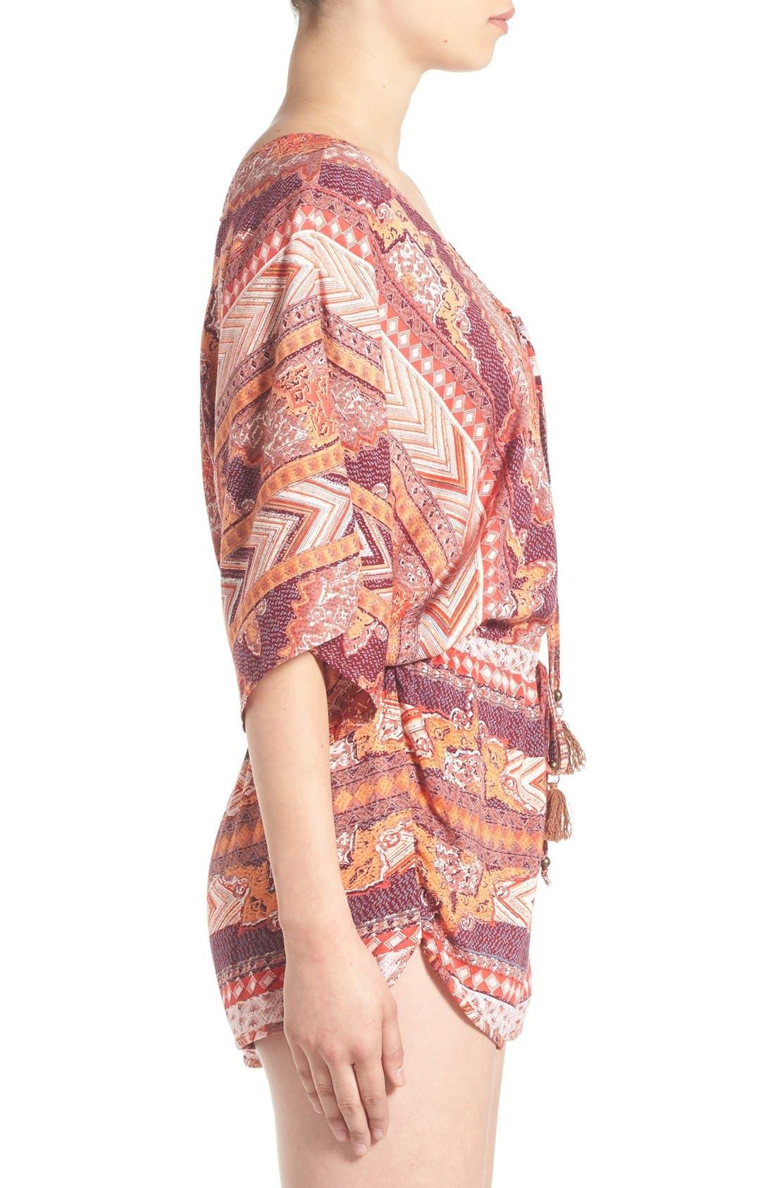 Alternate Image 3  - Angie Kimono Sleeve Romper