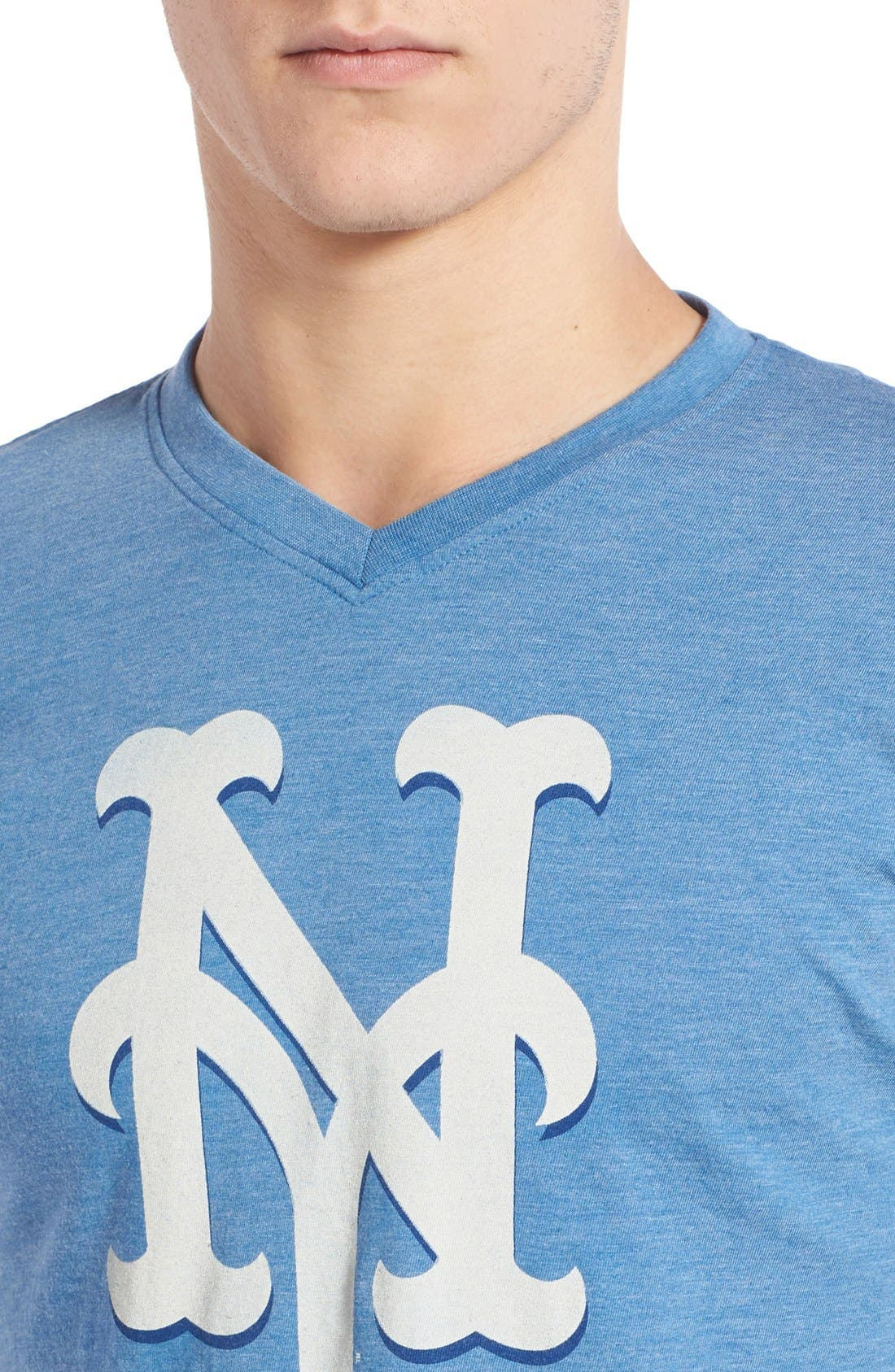 Alternate Image 4  - Red Jacket 'New York Mets - Calumet' Graphic V-Neck T-Shirt
