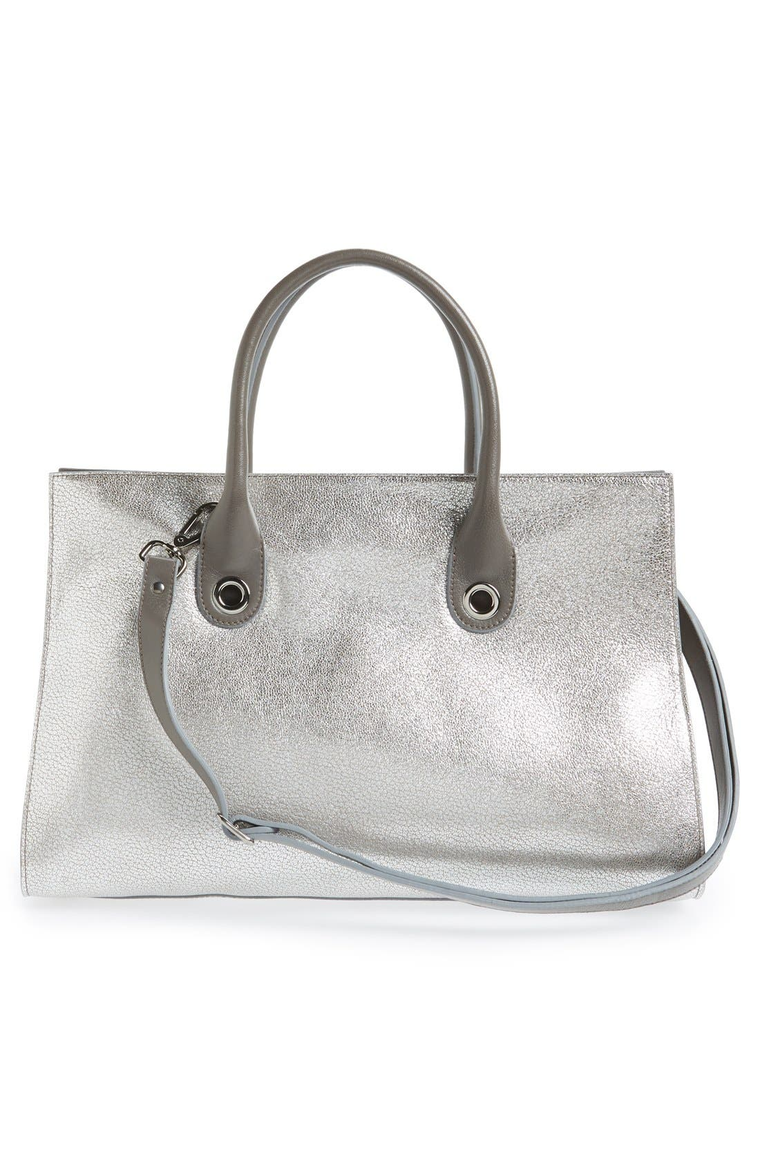 Alternate Image 3  - Jimmy Choo 'Riley' Metallic Goatskin Leather Tote
