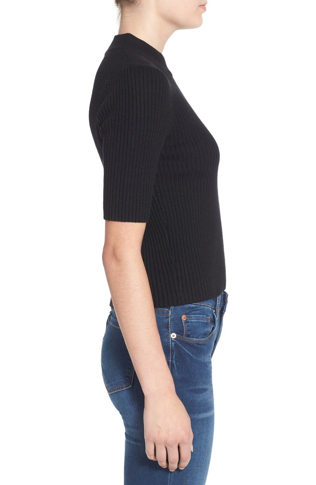 Alternate Image 3  - BP. Short Sleeve Rib Knit Pullover