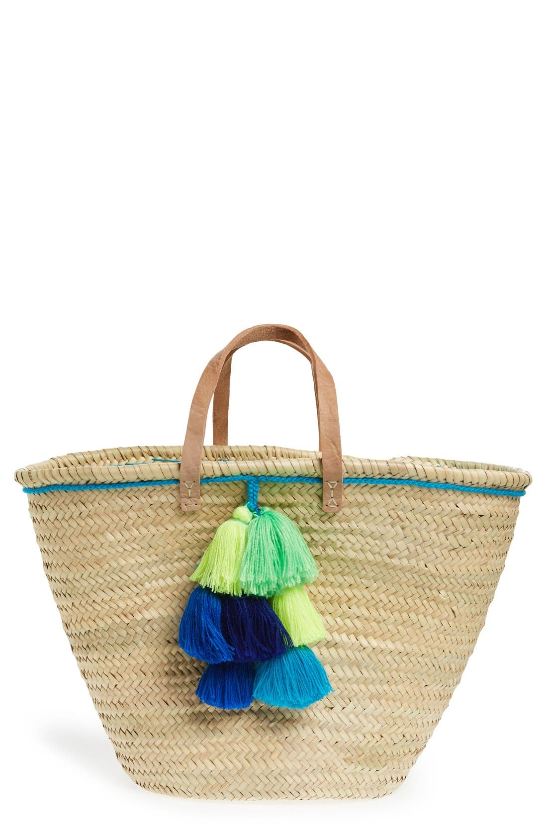 Alternate Image 1 Selected - House of Perna 'Remy' Woven Straw Tote