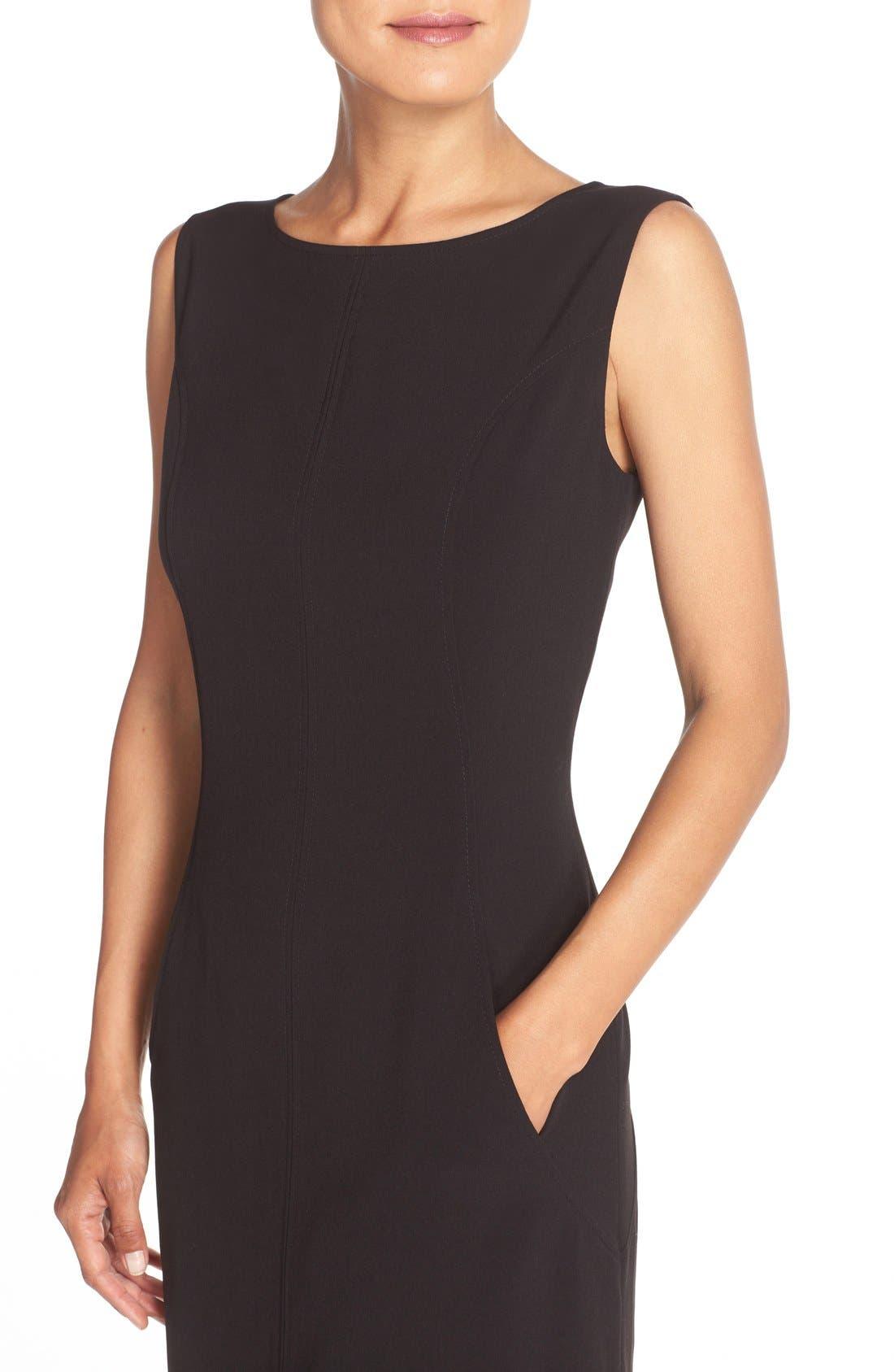 Alternate Image 5  - Tahari Seamed Woven A-Line Dress