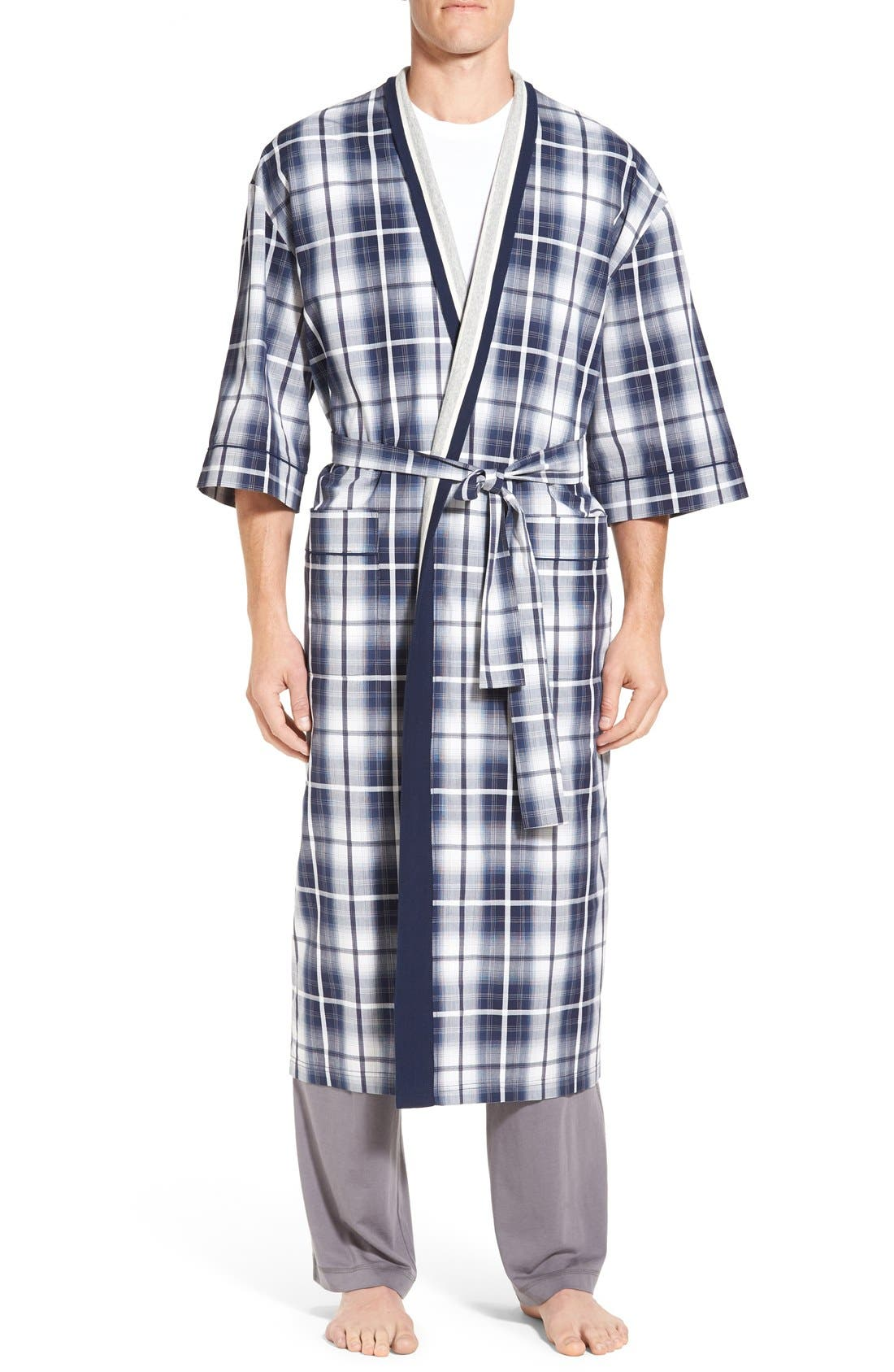 'Mad 4 Plaid' Robe,                         Main,                         color, Blue