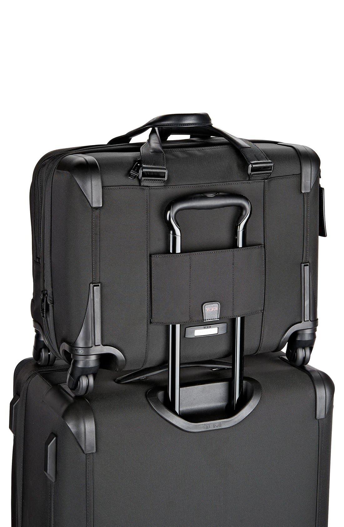 Alpha 2 Deluxe Wheeled Briefcase,                             Alternate thumbnail 6, color,                             Black