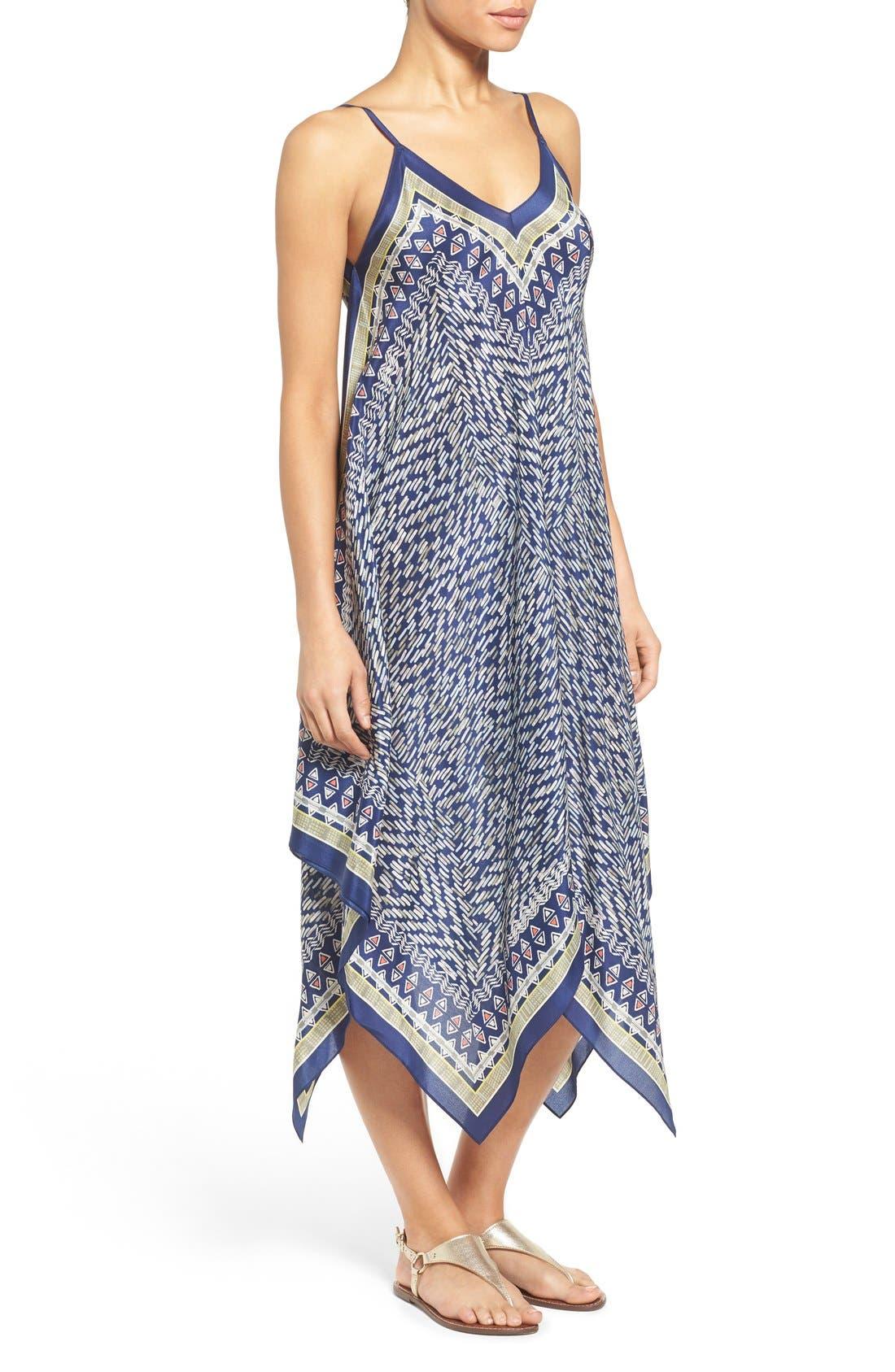 Alternate Image 3  - NIC+ZOE 'Tropicale' Print Handkerchief Hem Silk Sundress (Regular & Petite)