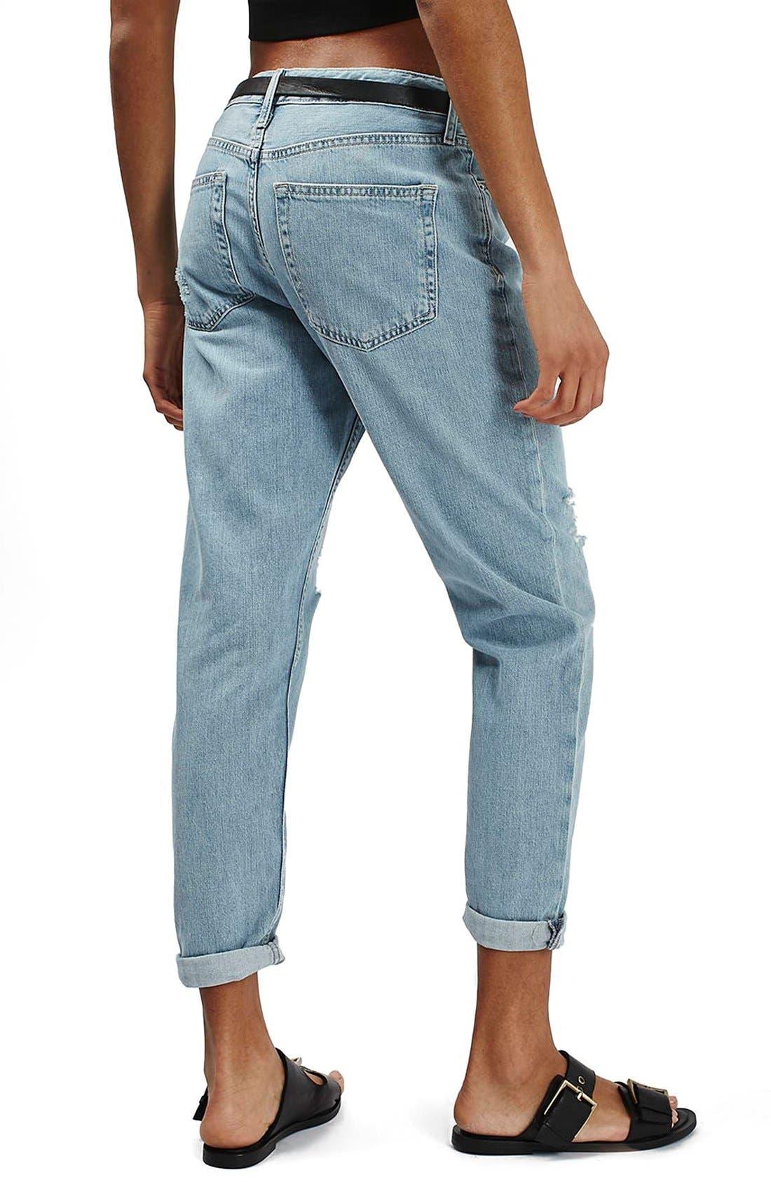 Alternate Image 3  - Topshop 'Hayden' Bleach Ripped Boyfriend Jeans