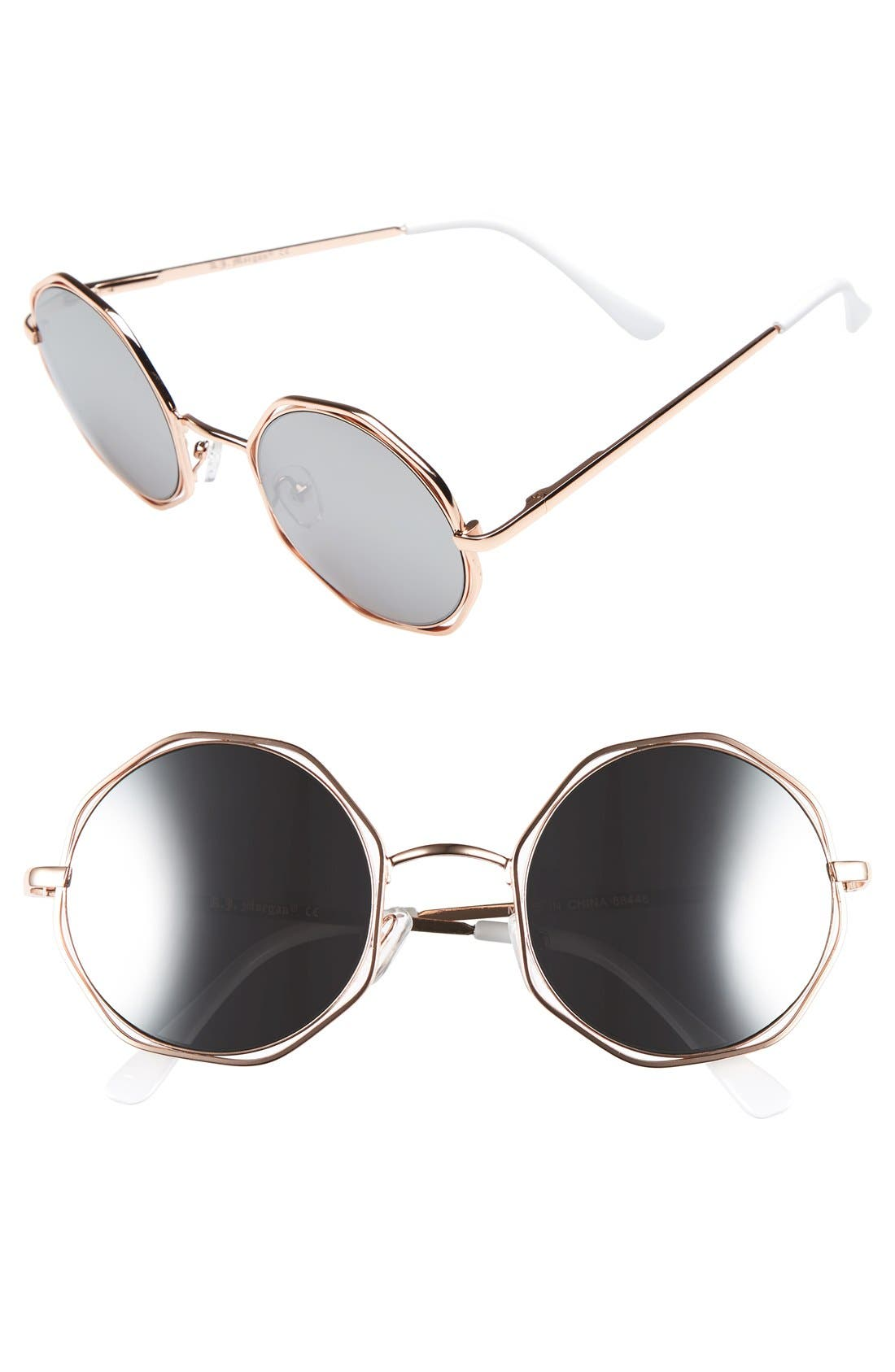 Main Image - A.J. Morgan 'Clayton' 48mm Octagon Wire Sunglasses