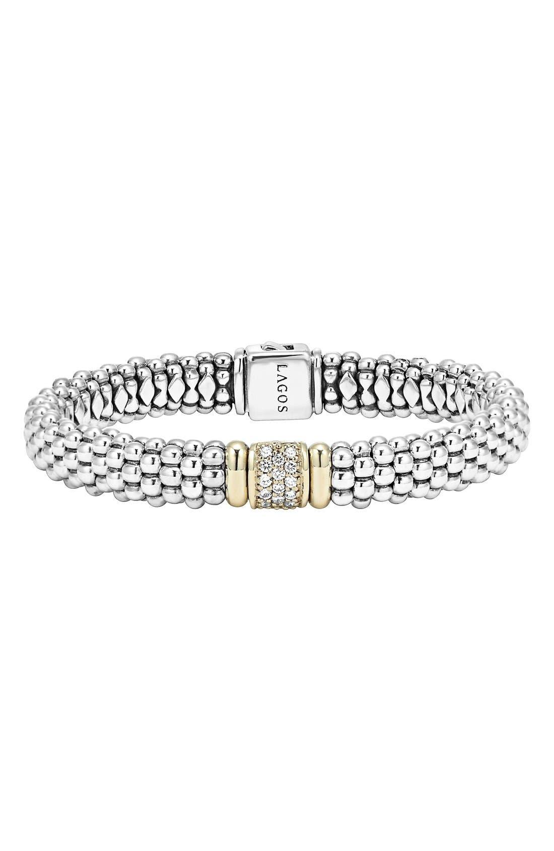 Alternate Image 1 Selected - LAGOS Diamond & Caviar Station Bracelet