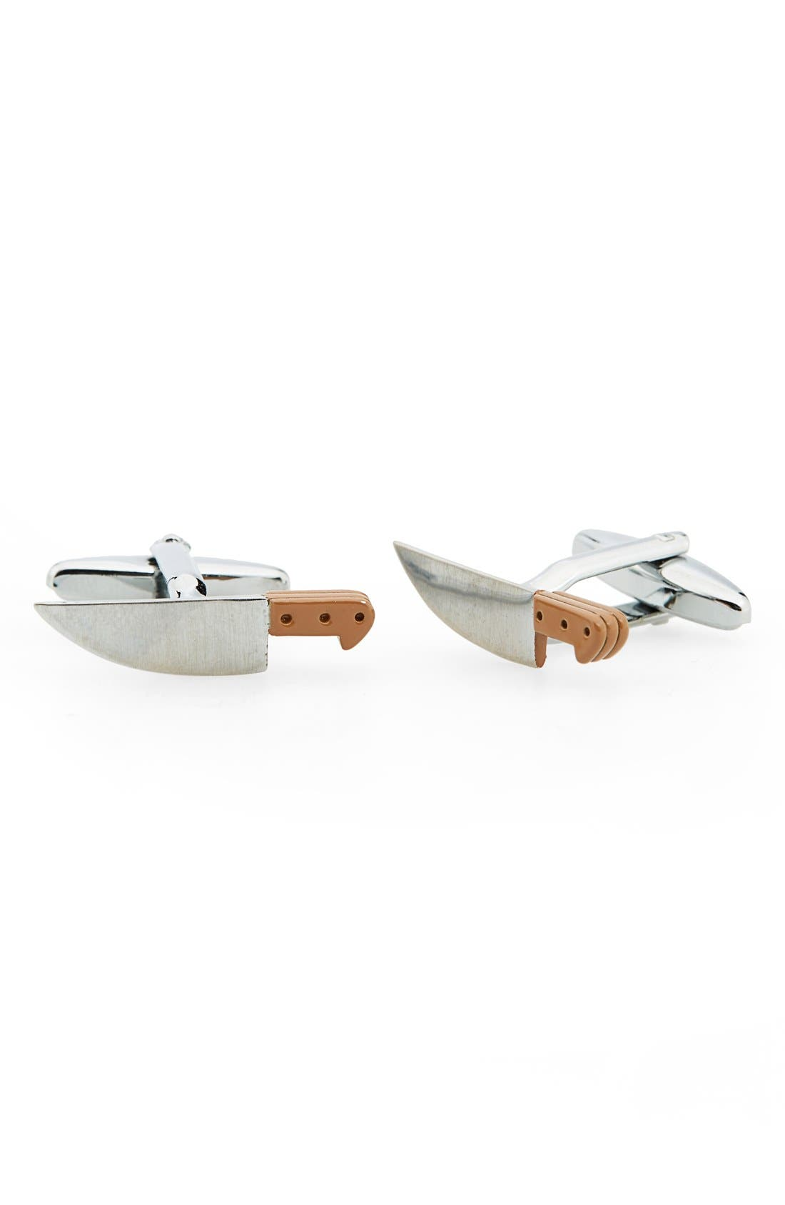 'Knife' Cuff Links,                             Main thumbnail 1, color,                             Silver