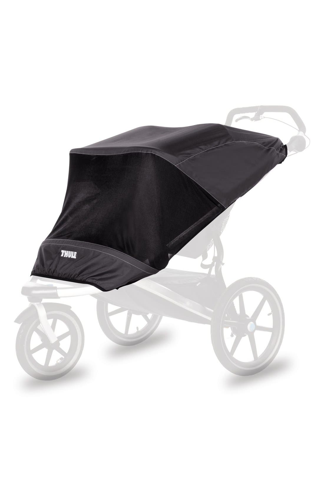 Urban Glide 2 Mesh Stroller Cover,                         Main,                         color, Black