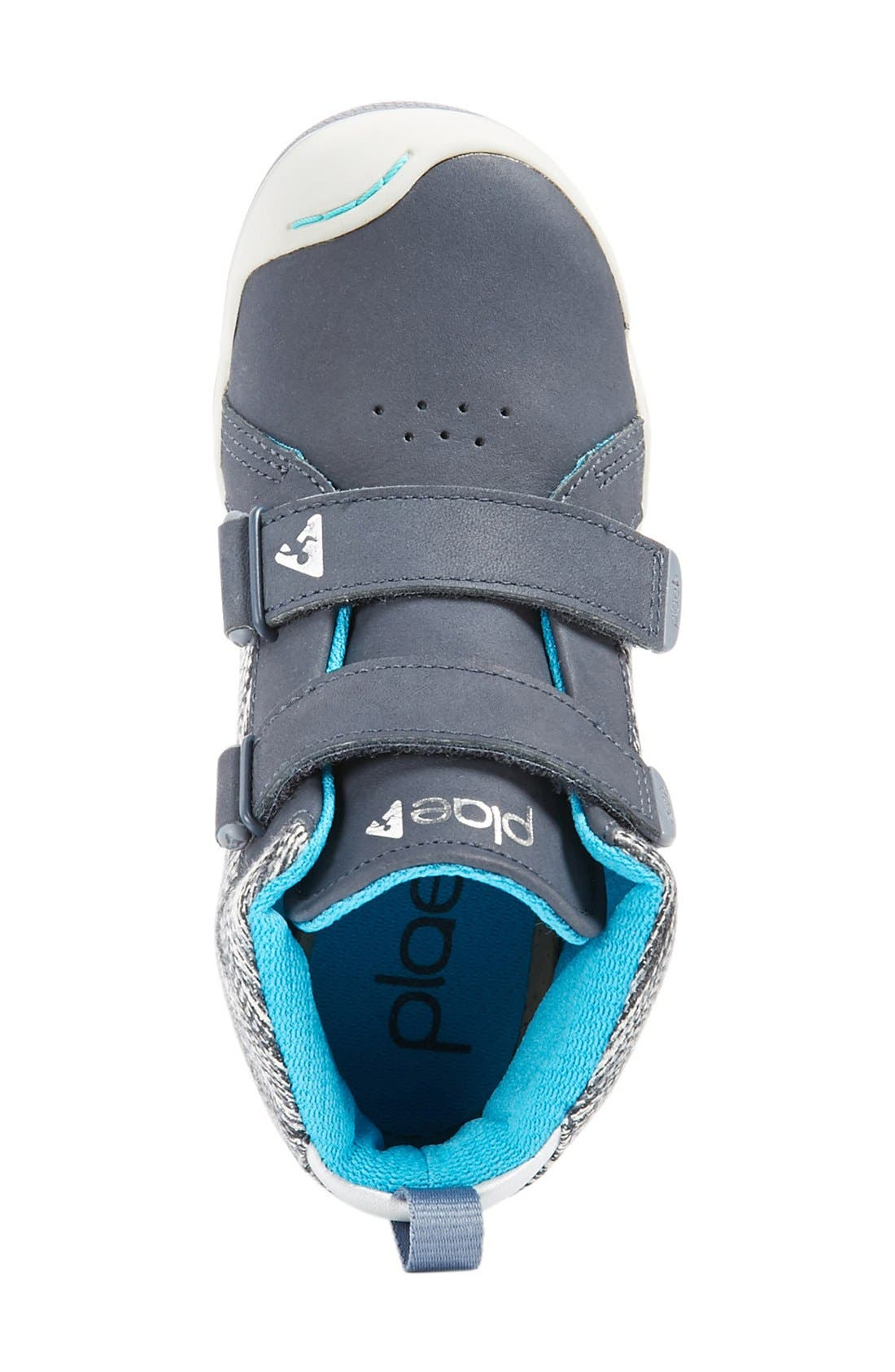 'Max' Customizable High Top Sneaker,                             Alternate thumbnail 4, color,                             Leather Wind
