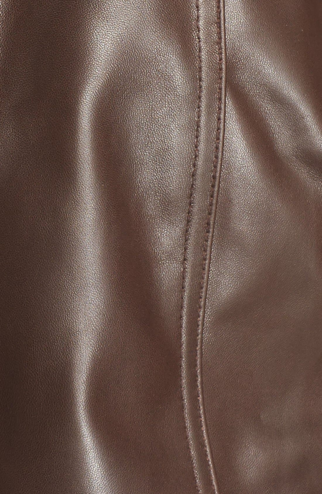 Alternate Image 5  - Ellen Tracy Leather Walking Coat (Plus Size)