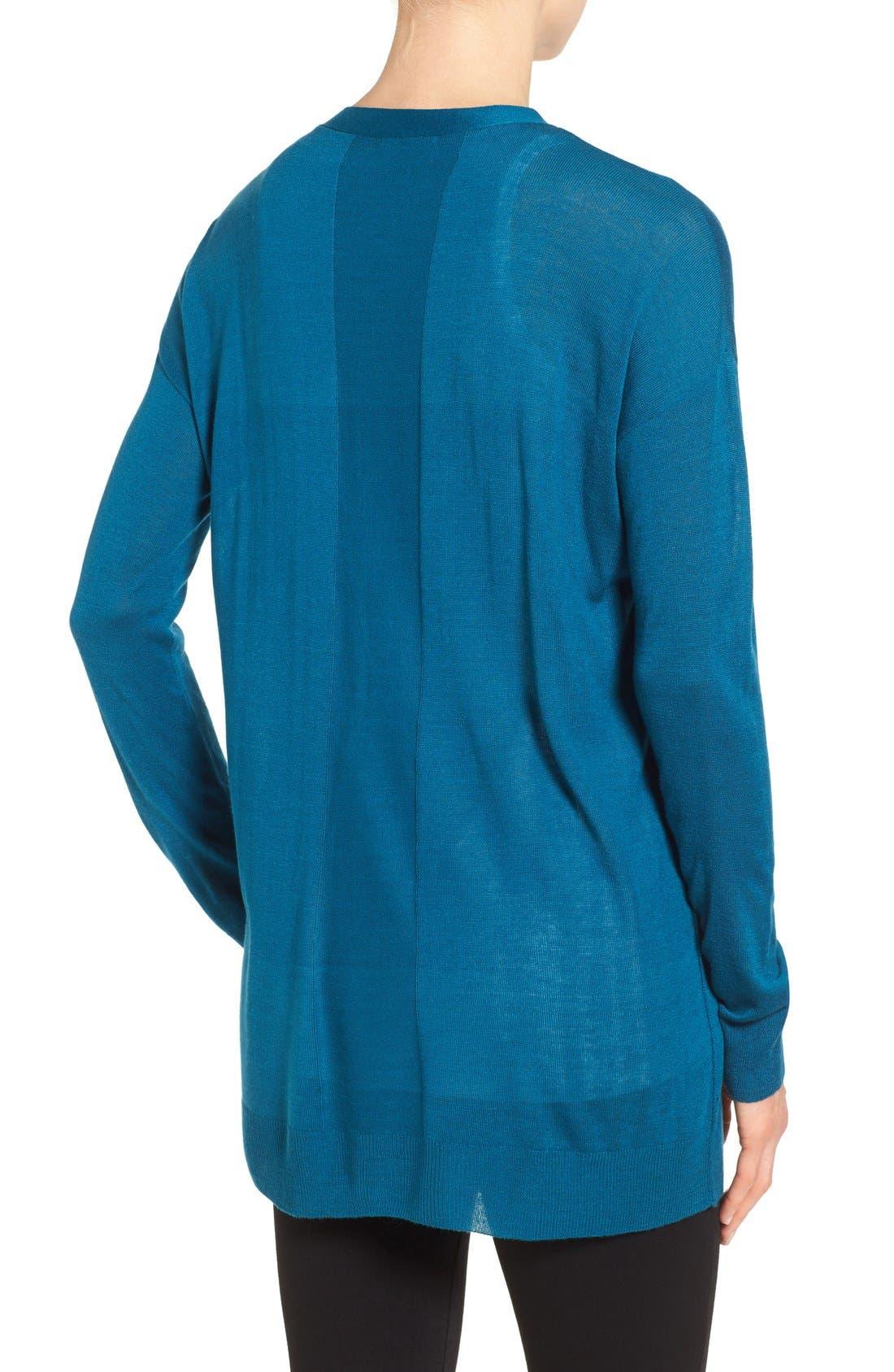 Alternate Image 2  - Halogen® Lightweight V-Neck Cardigan (Regular & Petite)
