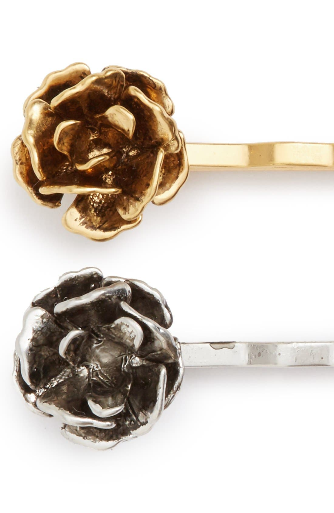 Alternate Image 2  - MARC JACOBS 'Flower' Bobby Pins (Set of 2)